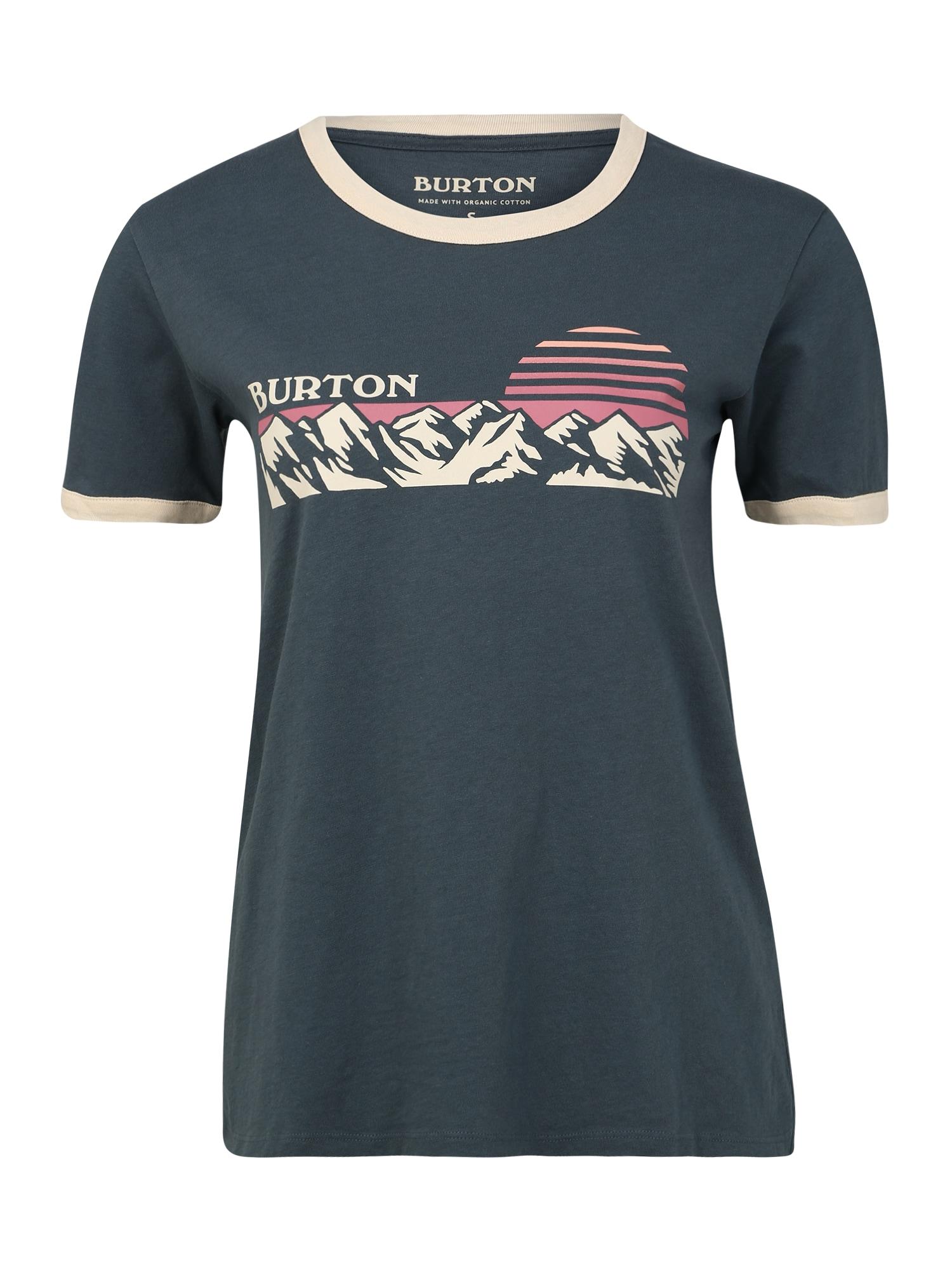 BURTON Sportiniai marškinėliai kremo / tamsiai mėlyna