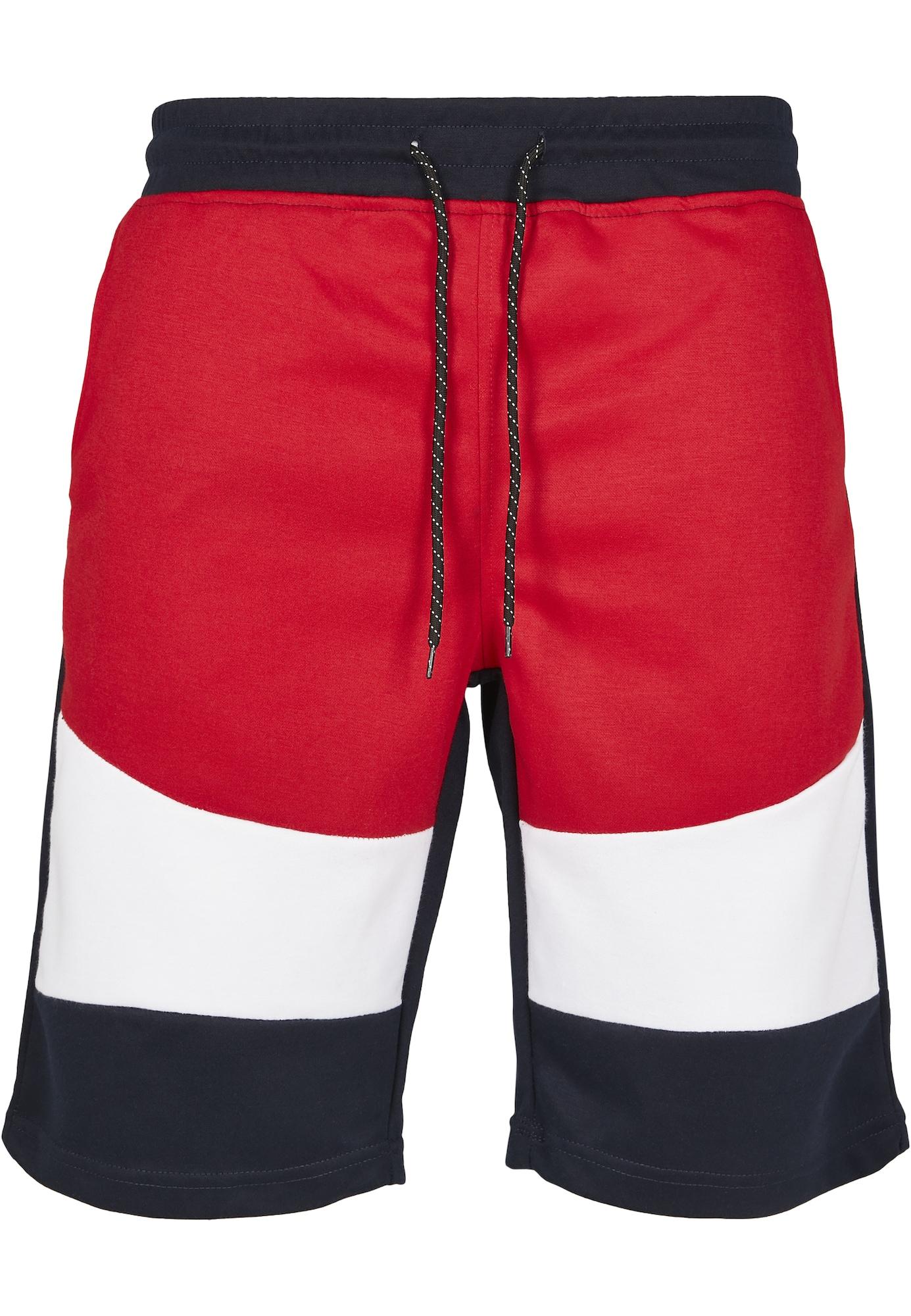 SOUTHPOLE Kelnės balta / tamsiai mėlyna / raudona