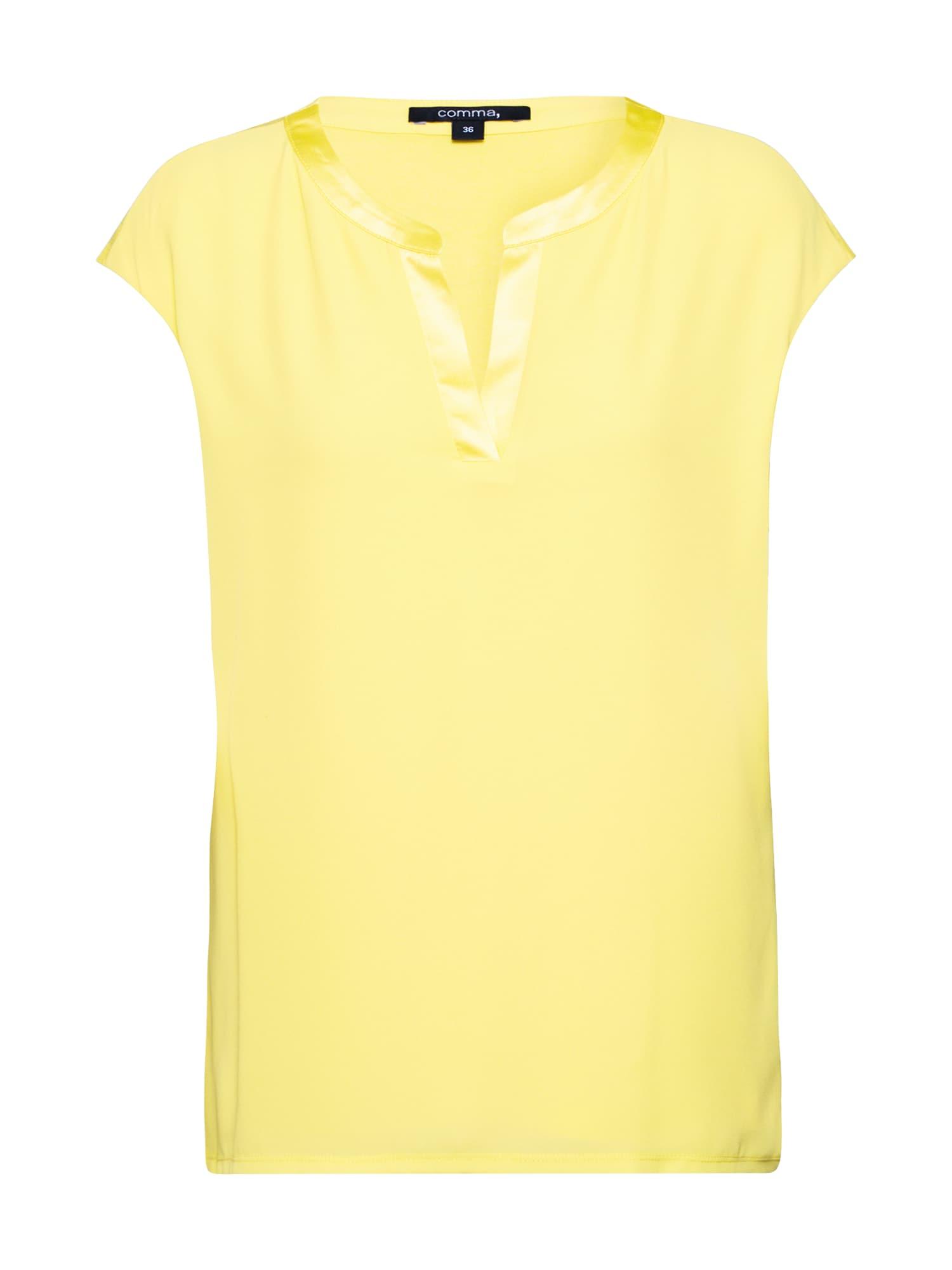 COMMA Tričko  žlté