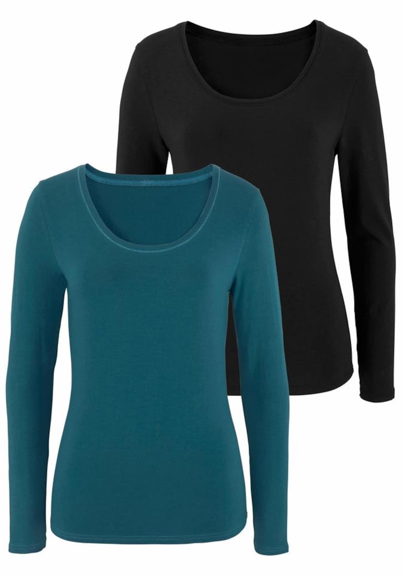 VIVANCE Marškinėliai benzino spalva / juoda