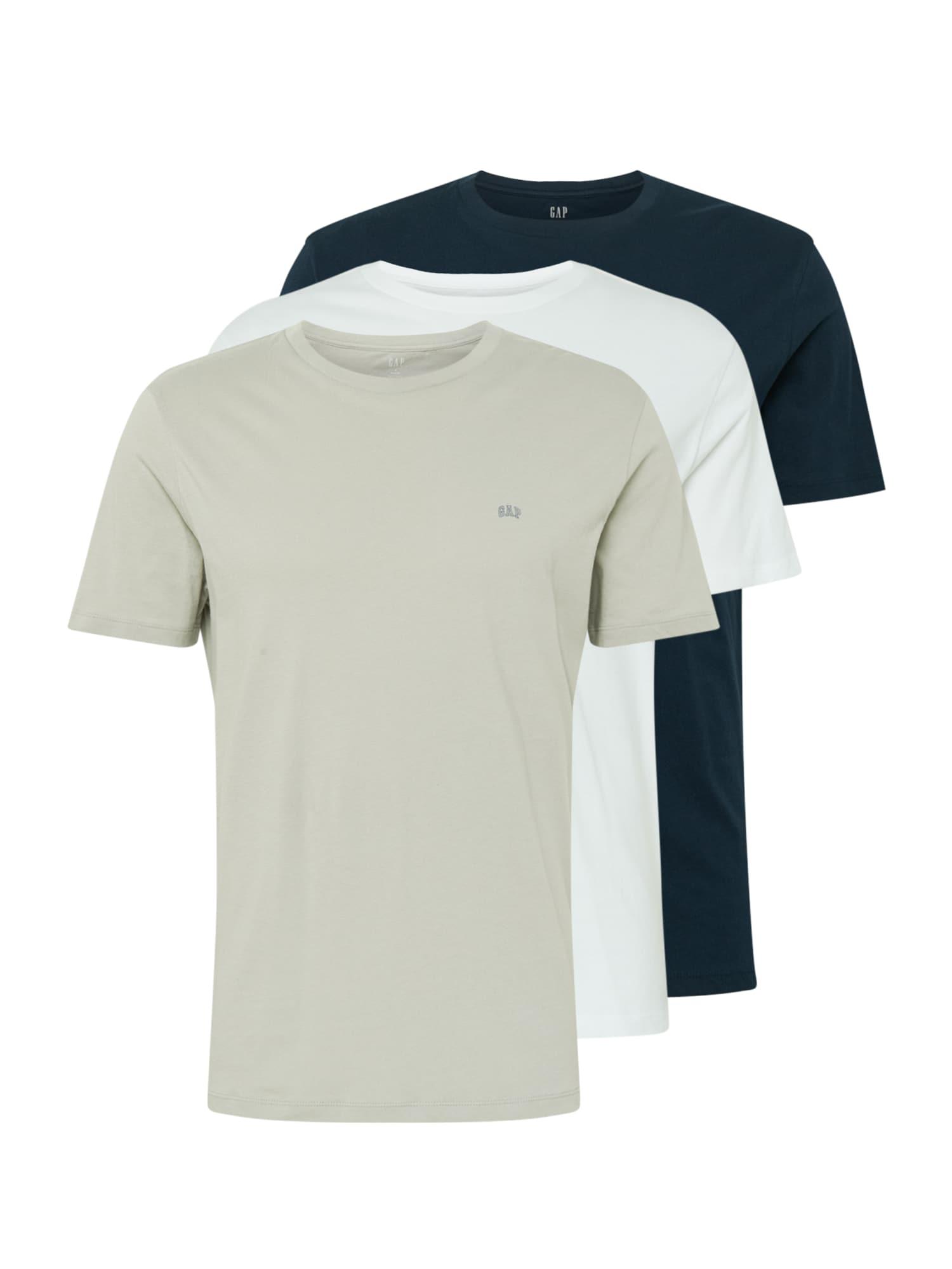 GAP Marškinėliai smėlio / balta / benzino spalva