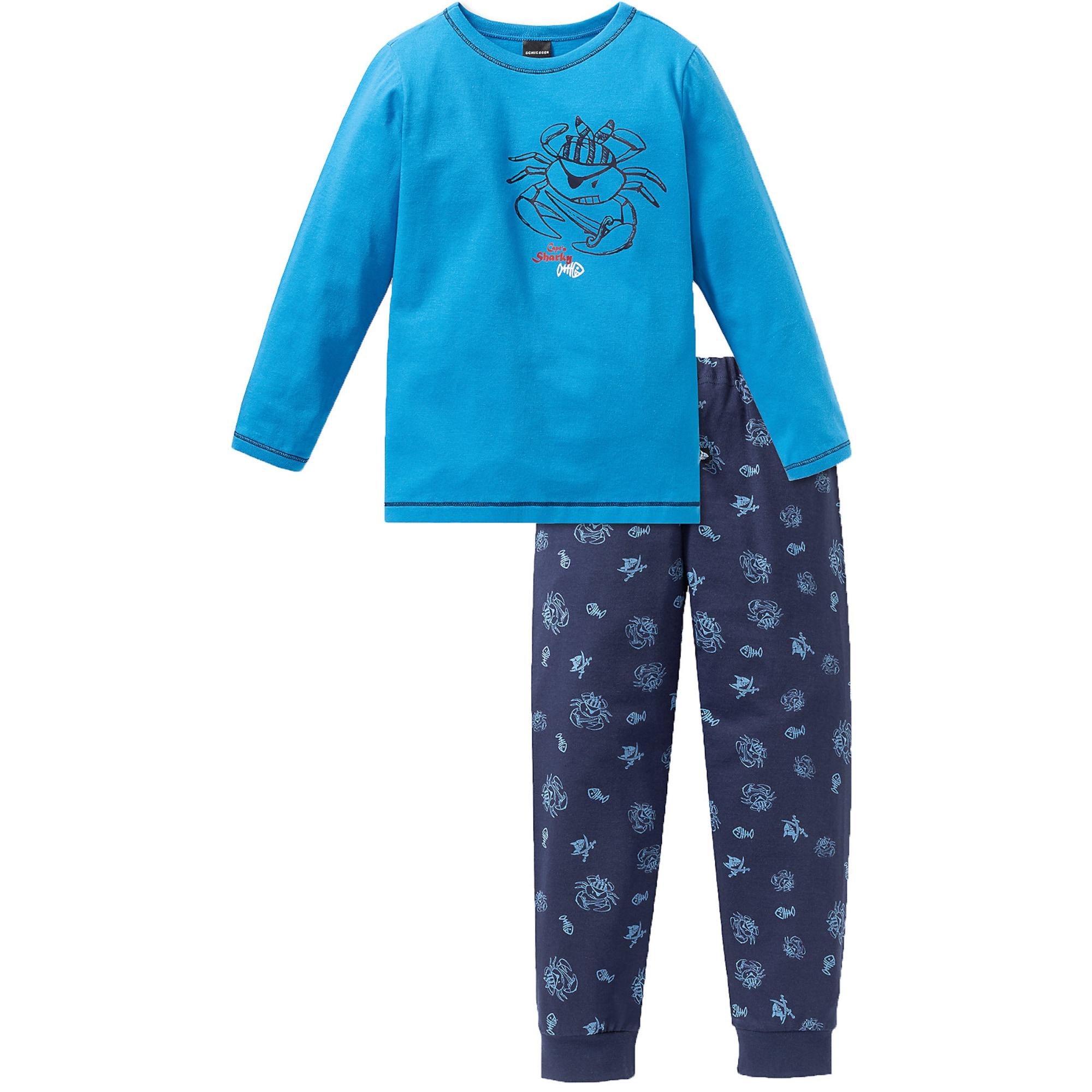 Pyžamo modrá tmavě modrá červená černá bílá SCHIESSER
