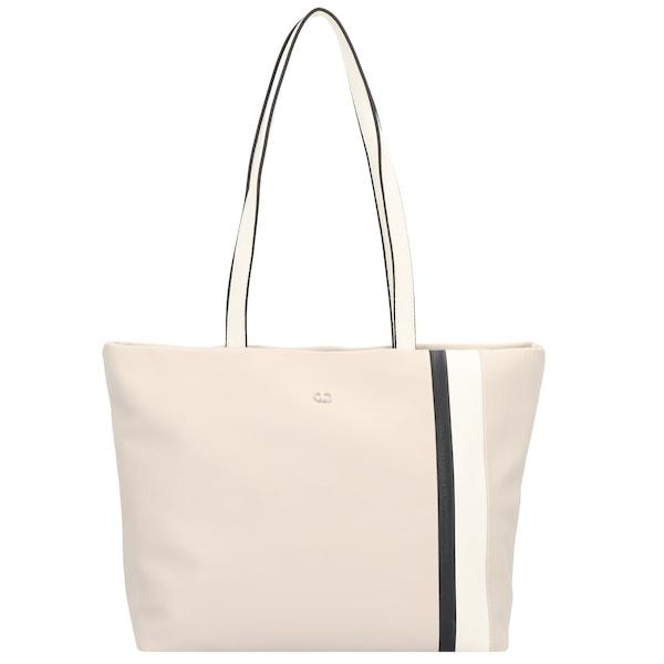 Shopper für Frauen - GERRY WEBER Shopper 'City Center' 38 cm beige schwarz weiß  - Onlineshop ABOUT YOU