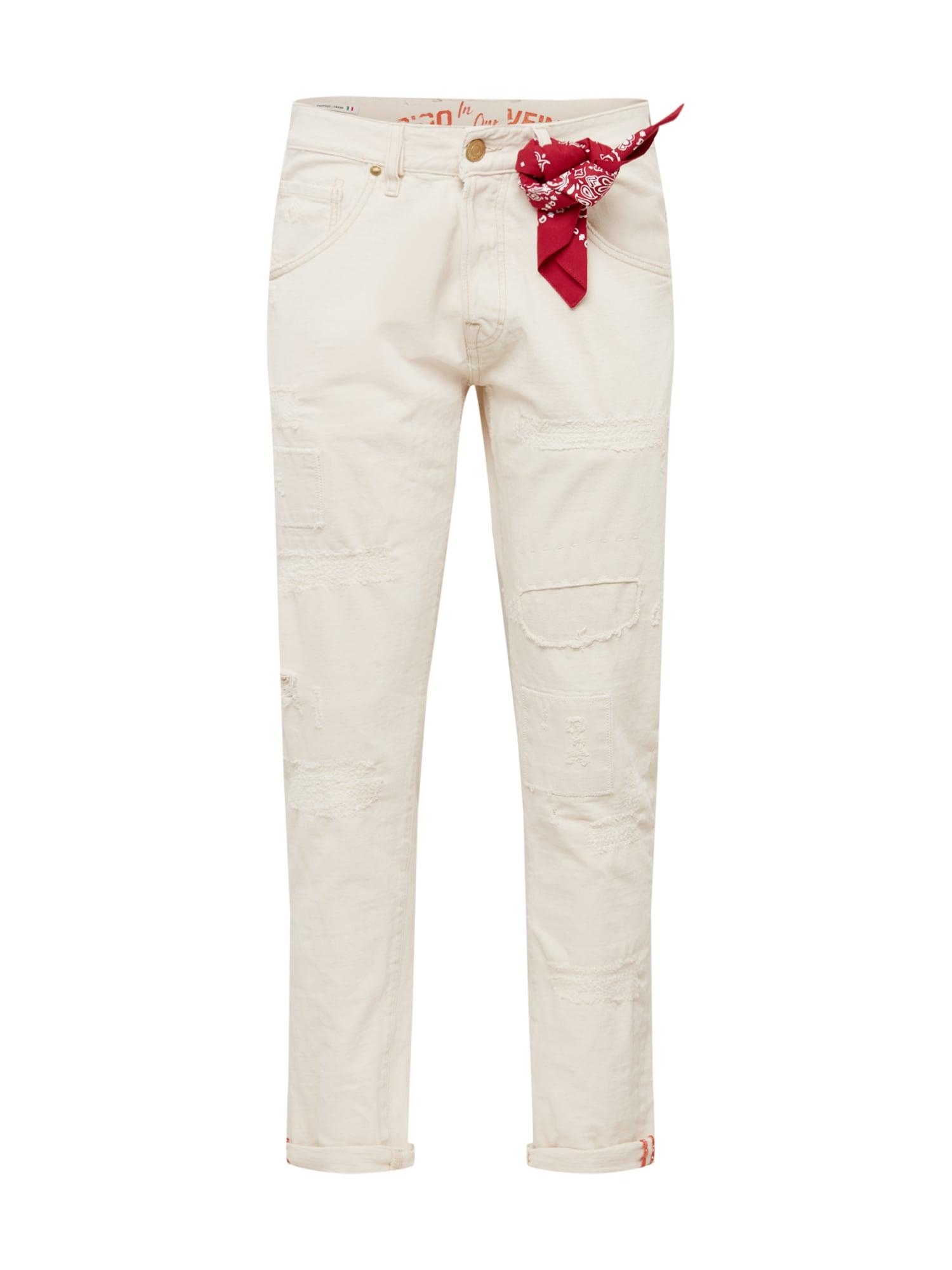JACK & JONES Džinsai 'JJIFRANK JJLEEN BL 863' balto džinso spalva