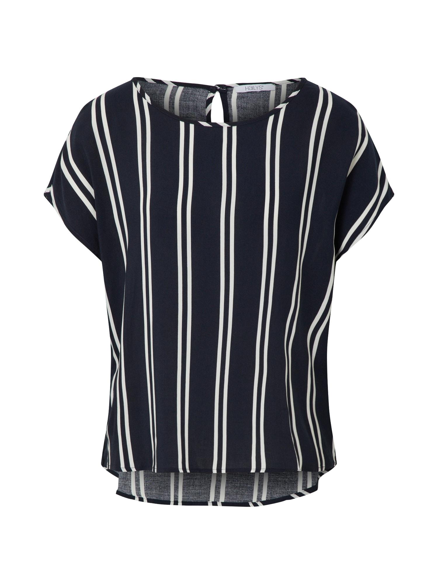 Hailys Marškinėliai 'Farina' balta / tamsiai mėlyna