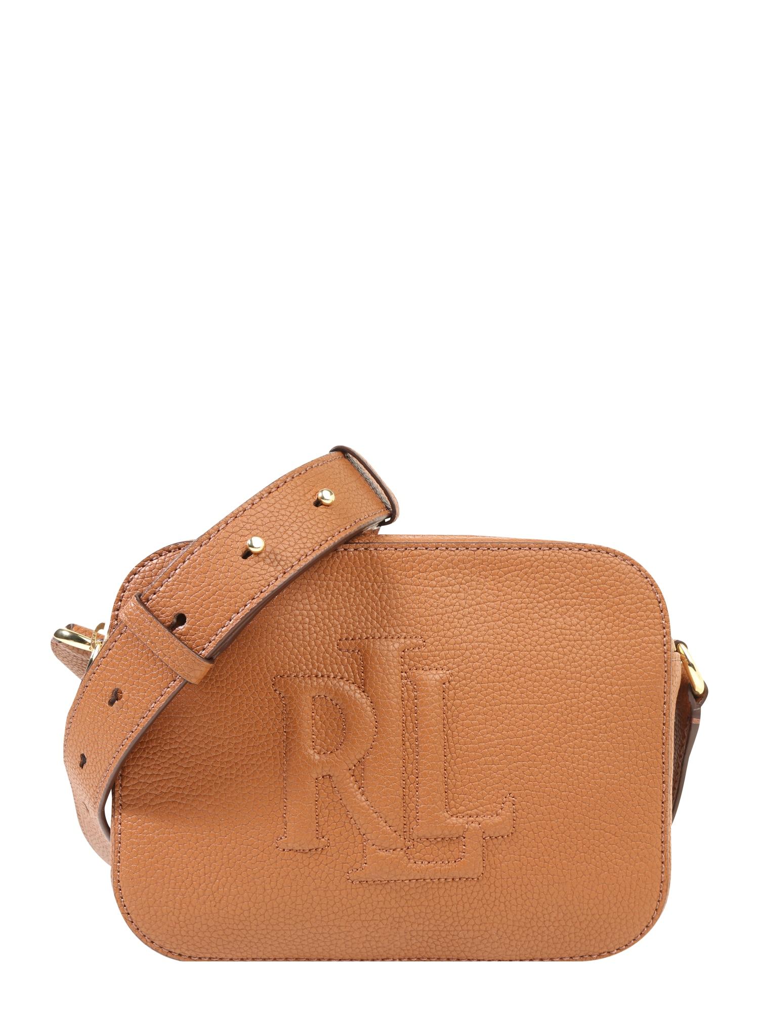 Taška přes rameno HAYES 20 koňaková Lauren Ralph Lauren