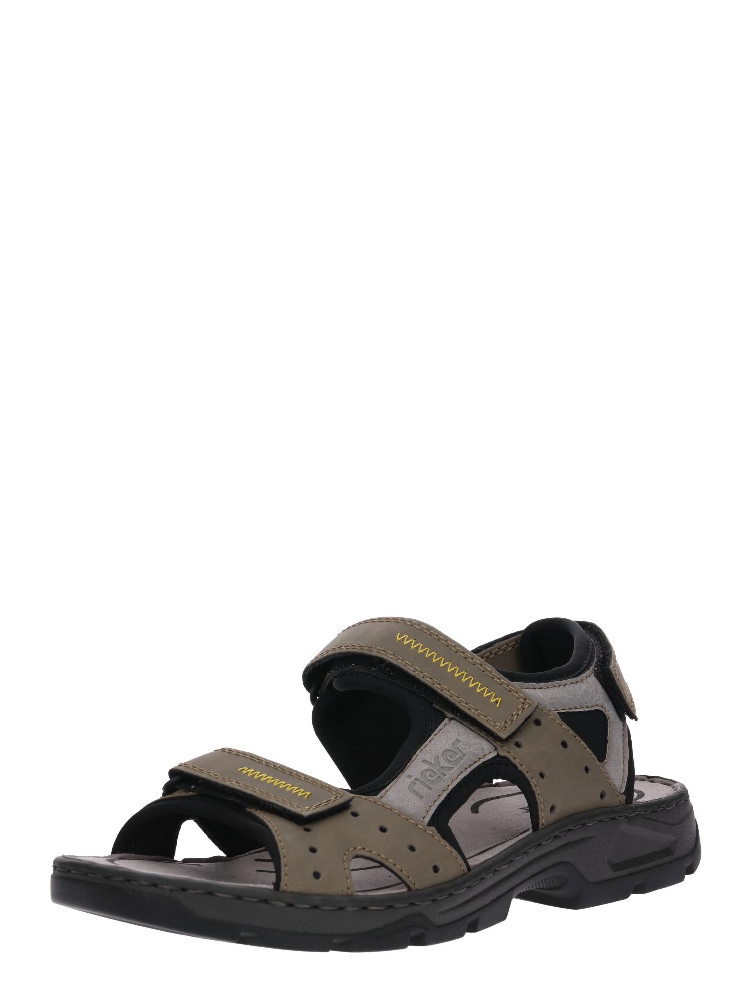 Trekingové sandály šedá olivová RIEKER