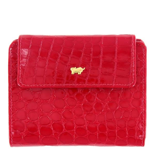 Geldboersen für Frauen - Geldbörse 'Glanzkroko' › Braun Büffel › rot  - Onlineshop ABOUT YOU