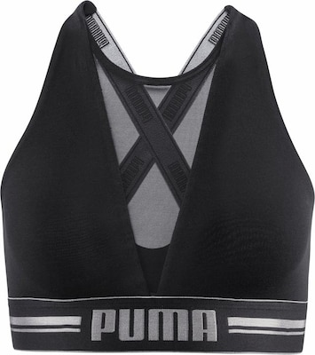 PUMA Bustier 'High Neck Bra with Mesh'