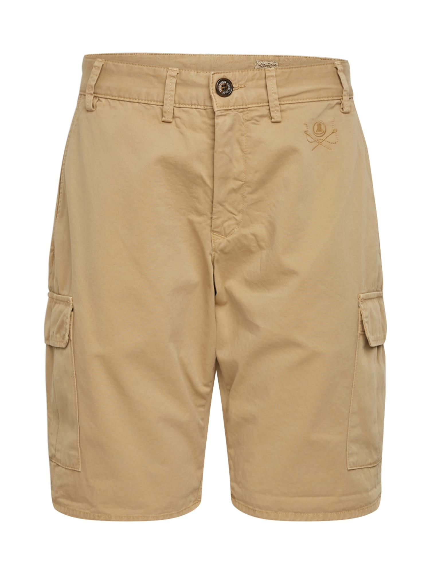 Herrlicher Laisvo stiliaus kelnės 'Iver Cargo Short Gabardine' rusvai žalia