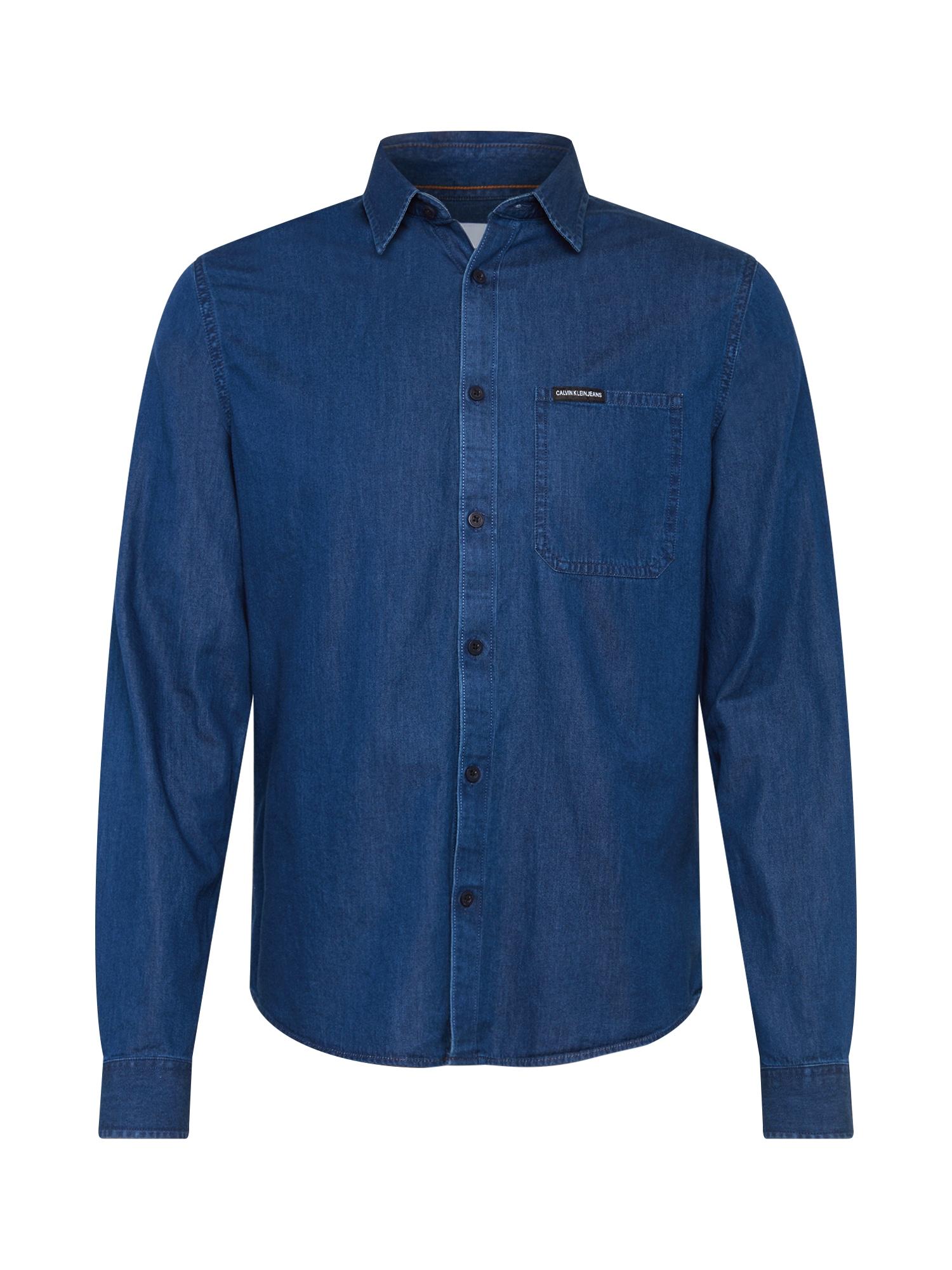 Košile INDIGO INSTIT POCKET REGULAR LS indigo Calvin Klein Jeans