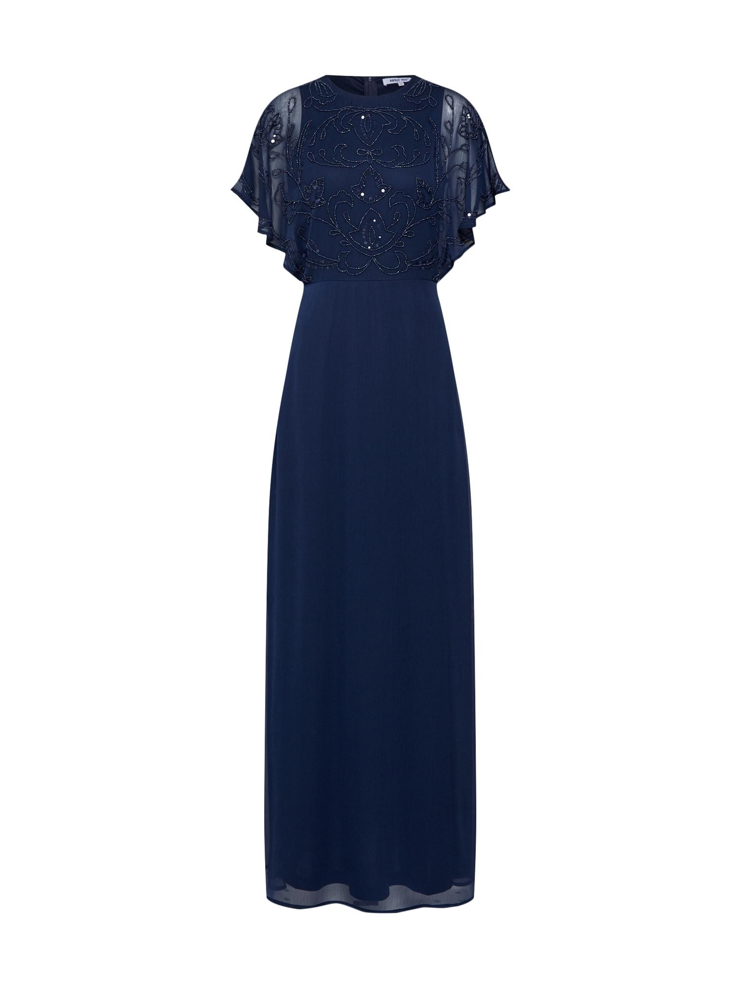 ABOUT YOU Vakarinė suknelė 'Maura' tamsiai mėlyna