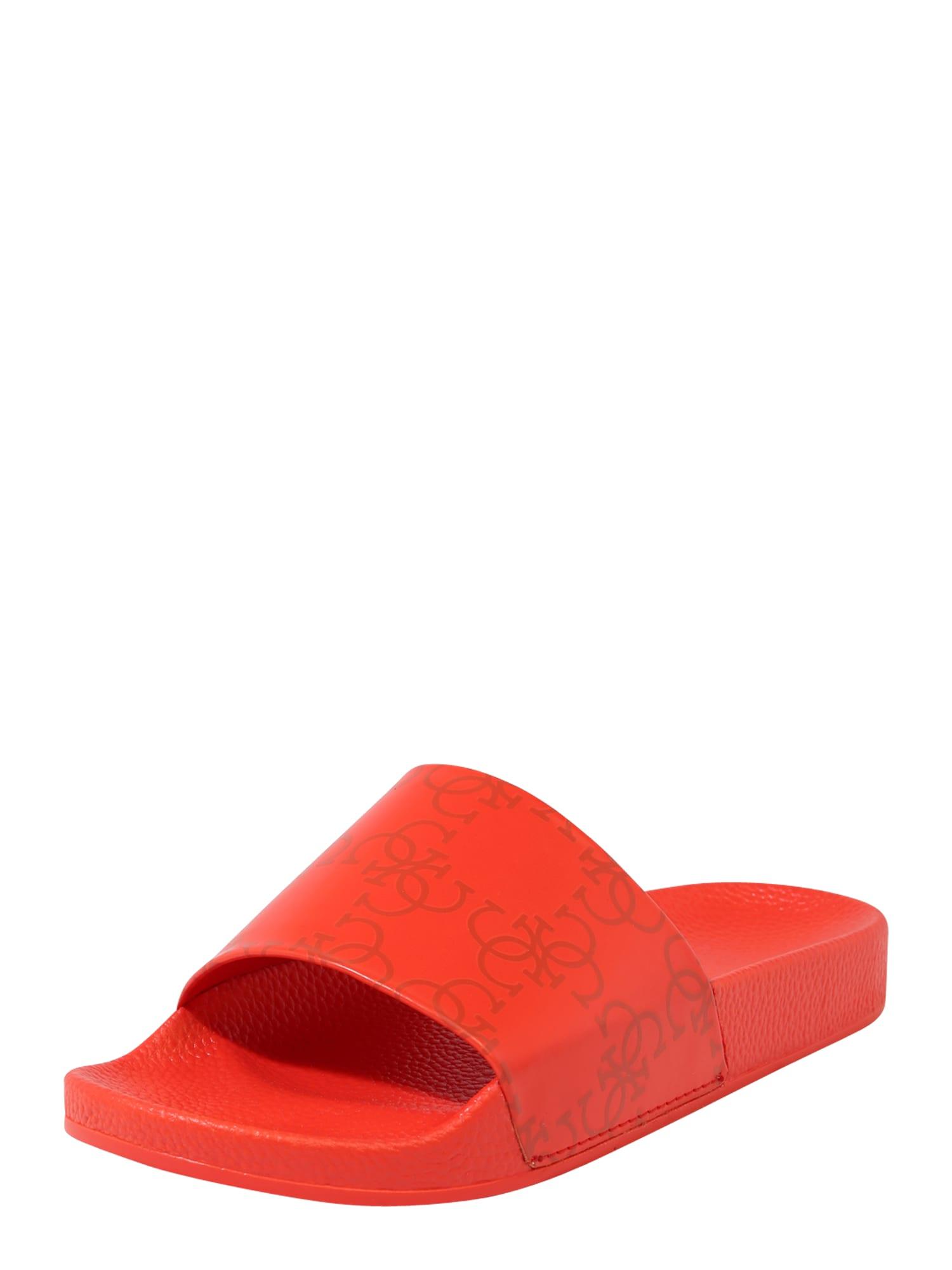 GUESS Sandalai / maudymosi batai 'SLIDES' raudona