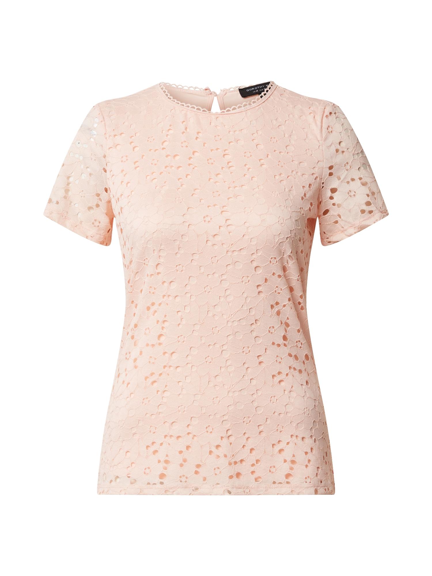 Dorothy Perkins Marškinėliai 'ORANGE LACE FITTED T-SHIRT' koralų splava