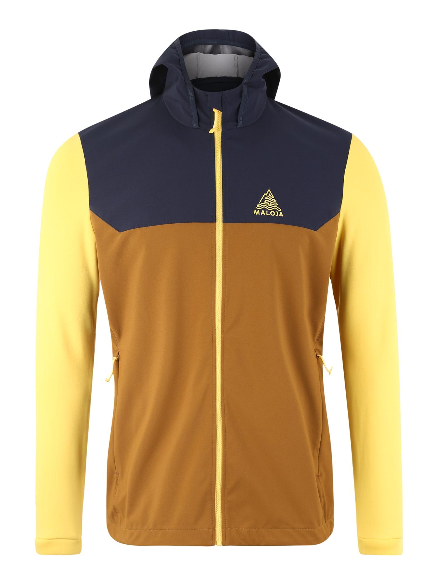 Outdoorová bunda BacunM. hnědá žlutá černá Maloja