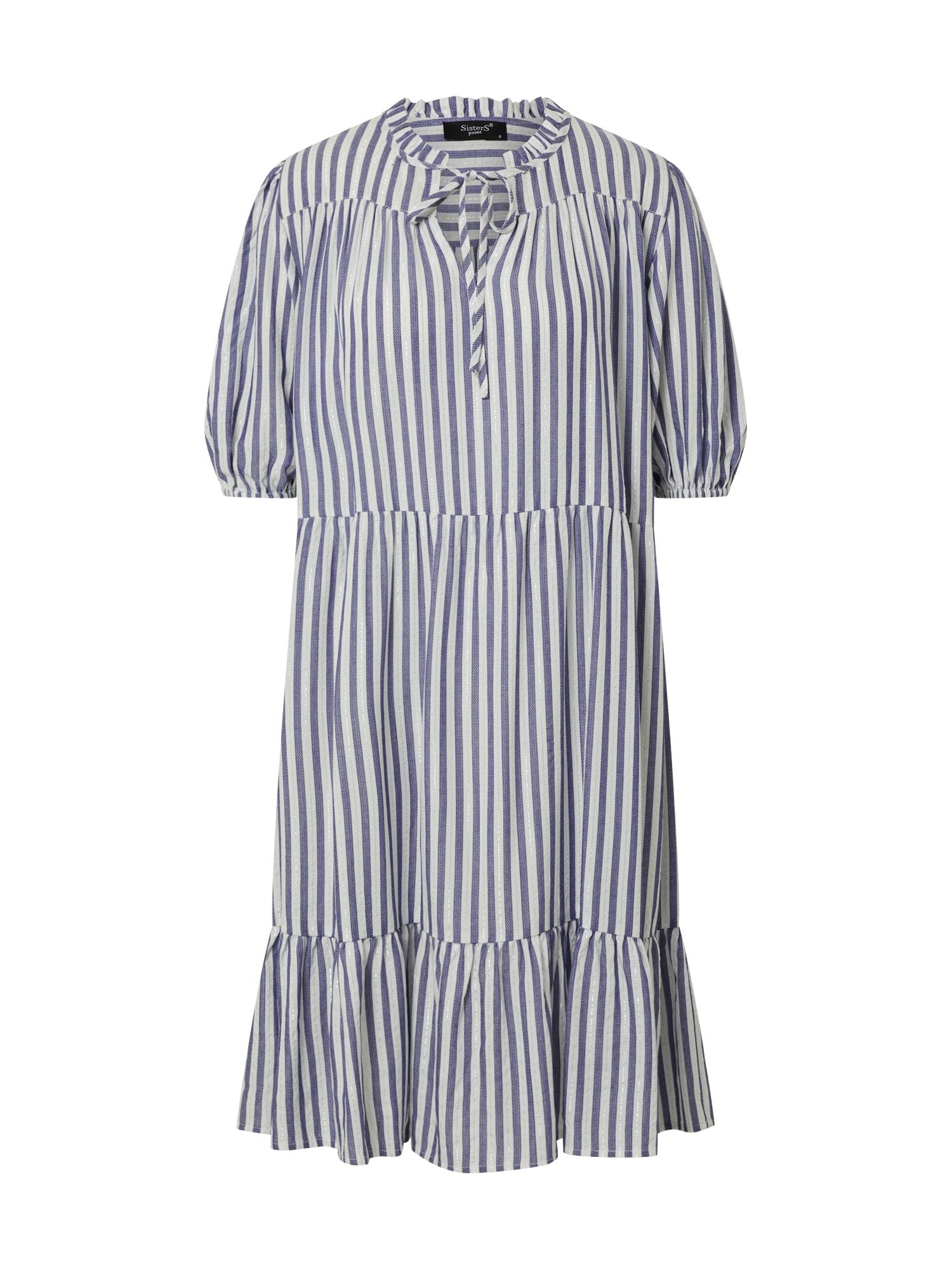 SISTERS POINT Šaty 'ILVO-DR'  modré / biela
