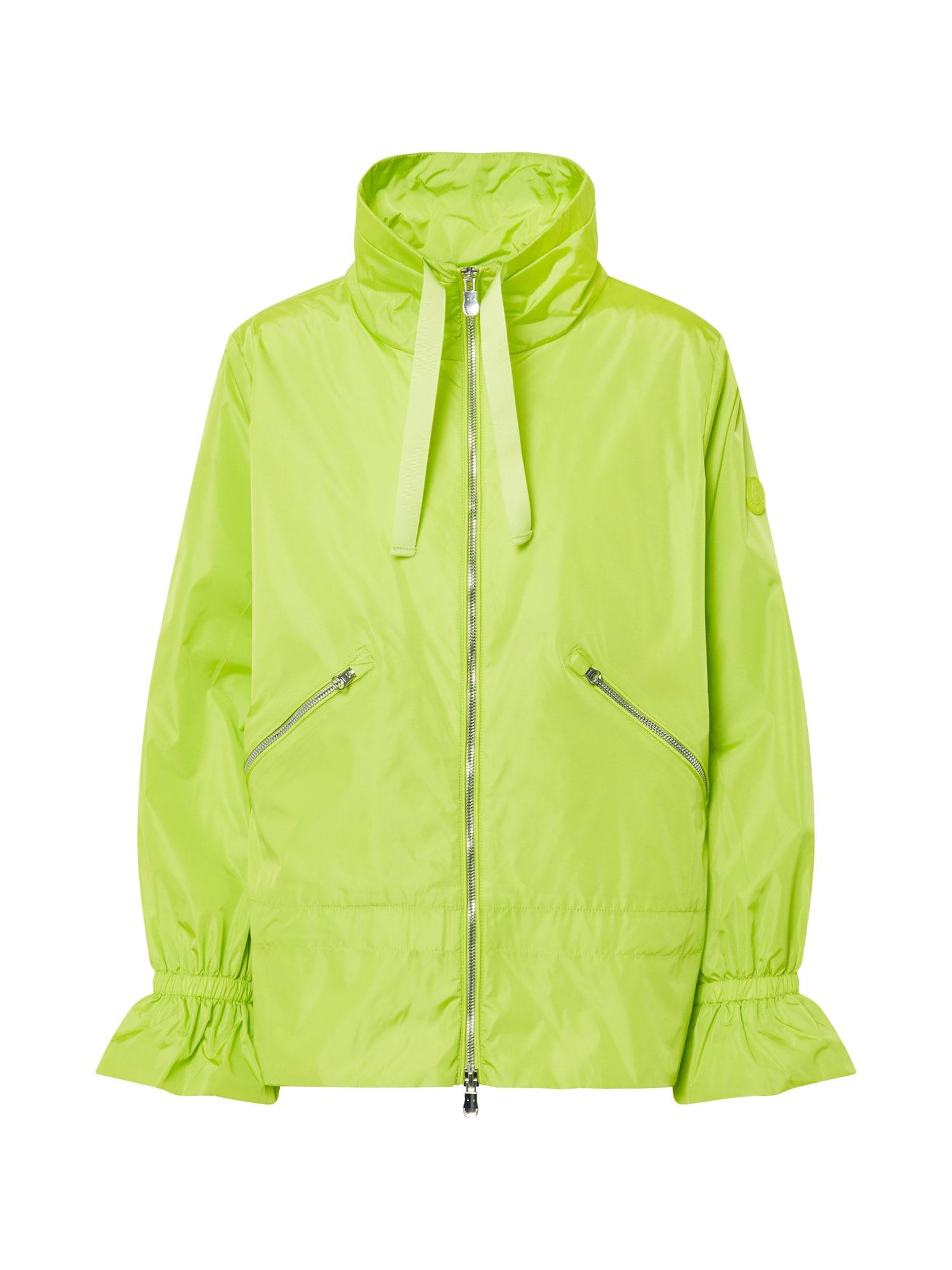 SAVE THE DUCK Demisezoninė striukė 'GIUBBOTTO CAPPUCCIO' šviesiai žalia / žaliosios citrinos spalva