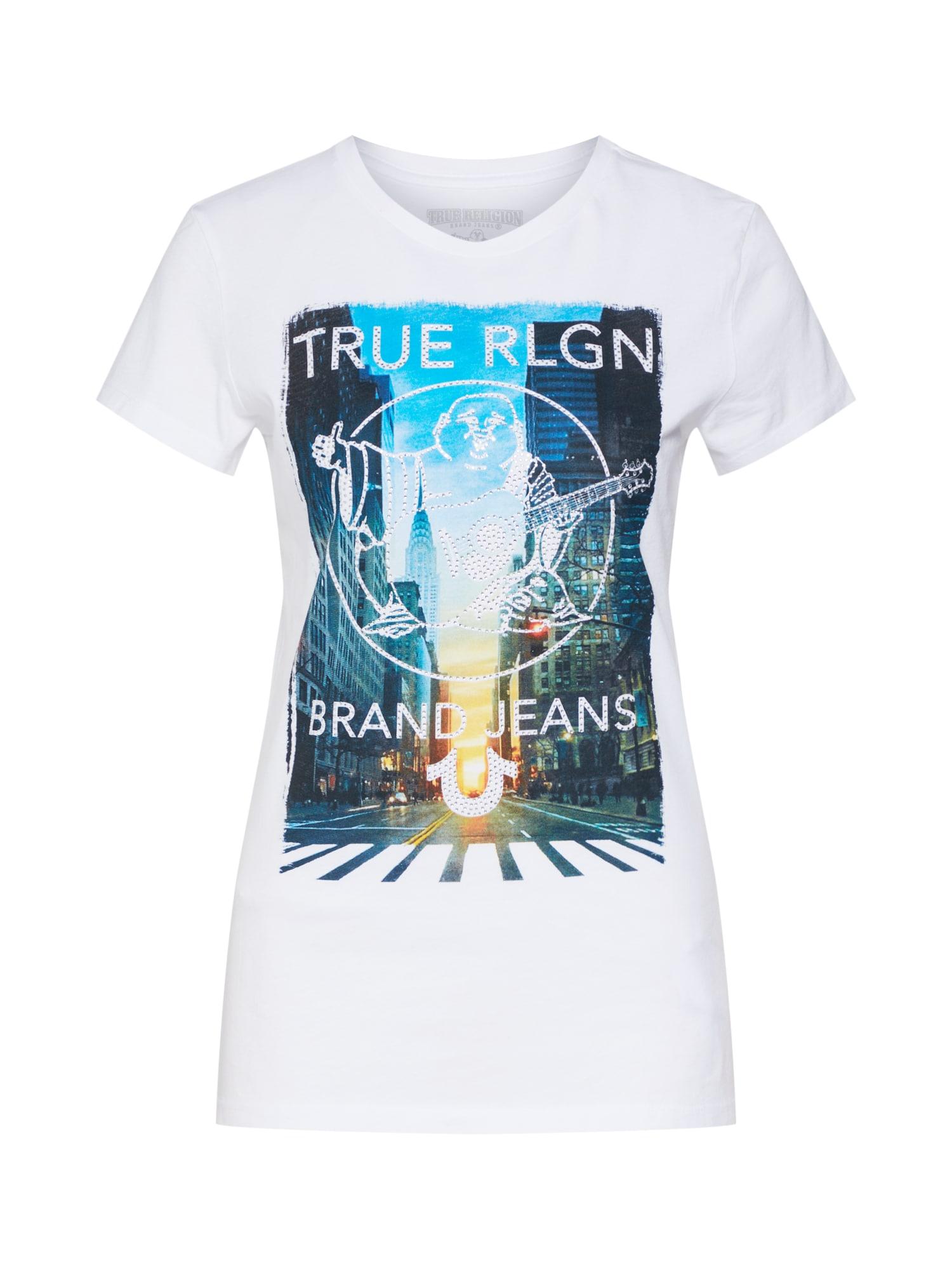 Tričko CREW CITY SCAPE bílá True Religion