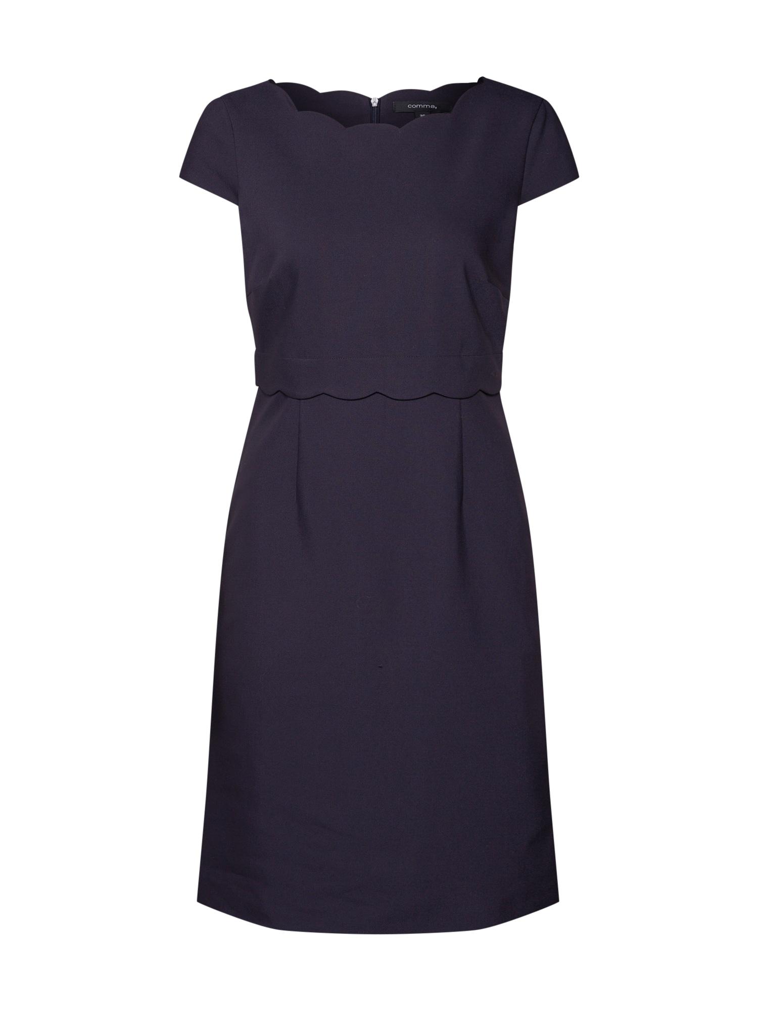 Šaty kobaltová modř COMMA