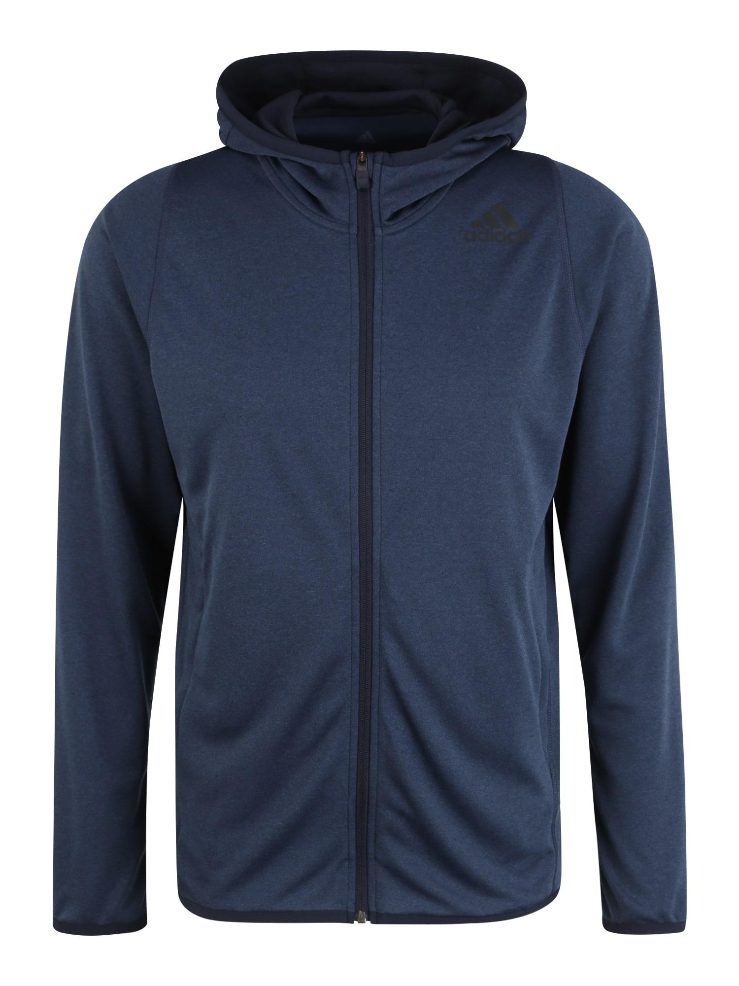 ADIDAS PERFORMANCE Sportinio tipo megztinis 'FL LITE FZ HDY' mėlyna