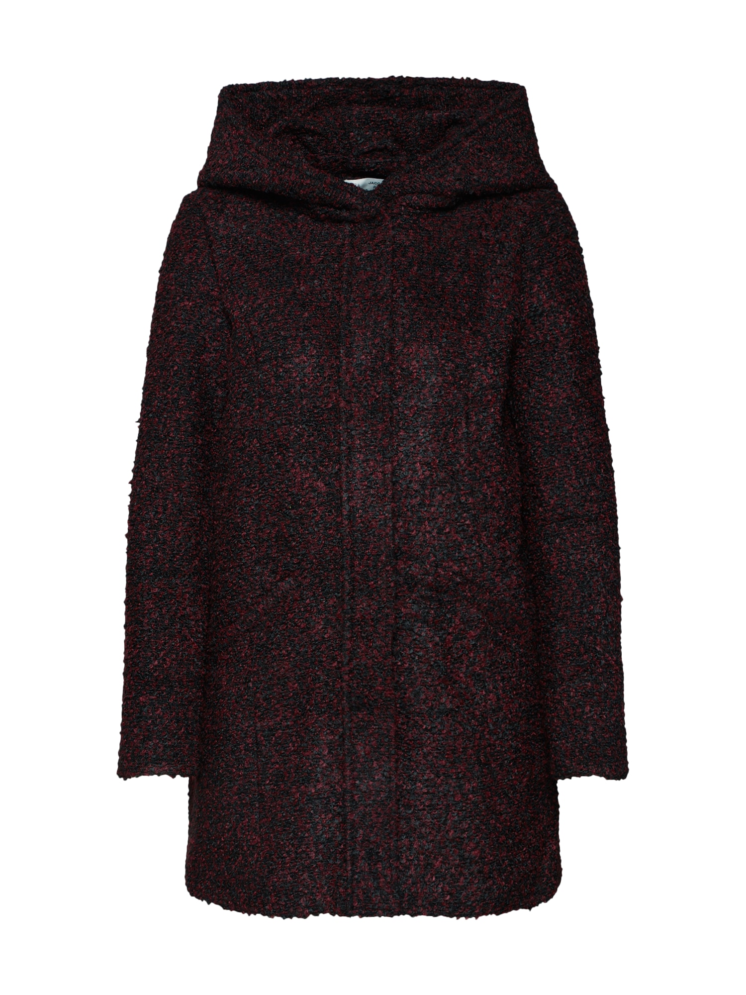 Zimní kabát JDYDEMEA HOOD BOUCLE JACKET bordó JACQUELINE De YONG