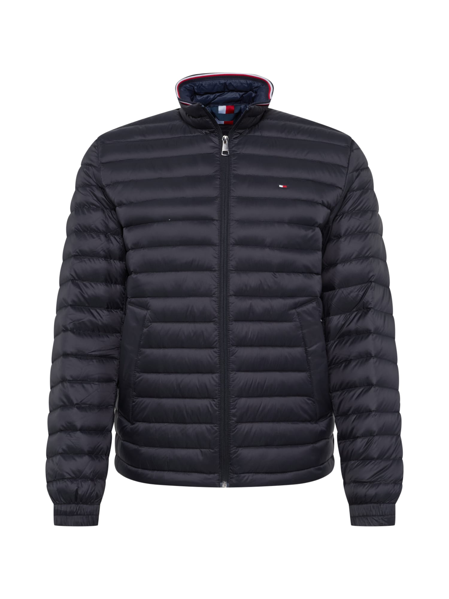 TOMMY HILFIGER Demisezoninė striukė 'CORE PACKABLE DOWN JACKET' juoda