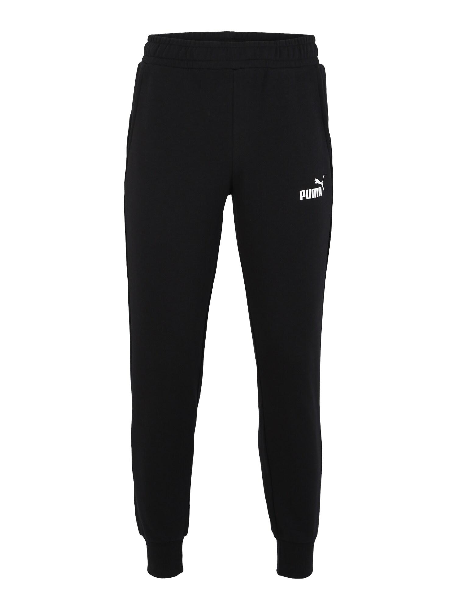 PUMA Sportinės kelnės balta / juoda