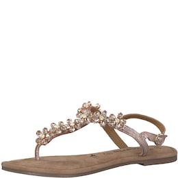 TAMARIS Damen Zehentrenner Sandale Glitter Flower  | 04059252356195