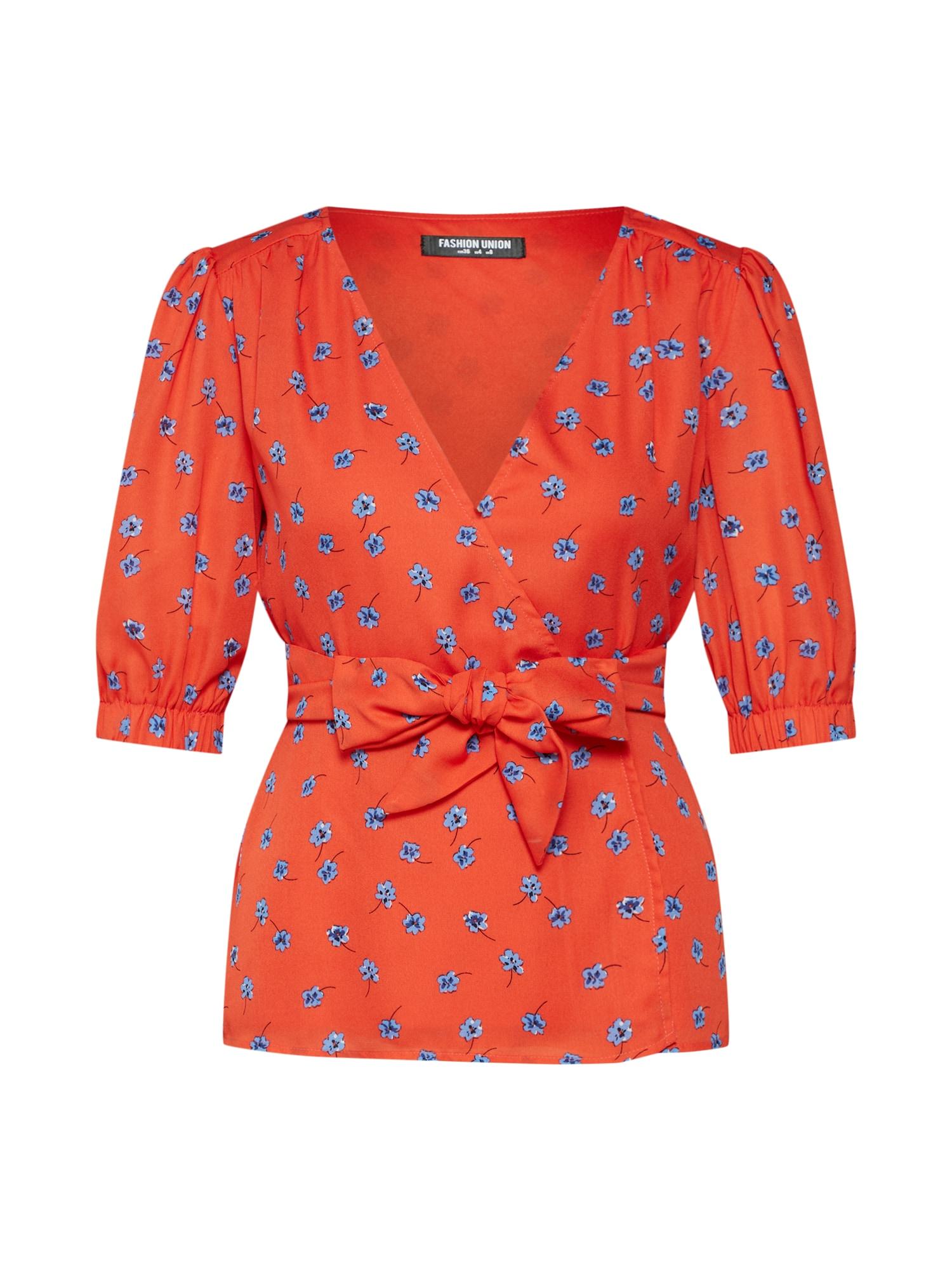Halenka SARAY světlemodrá mandarinkoná Fashion Union