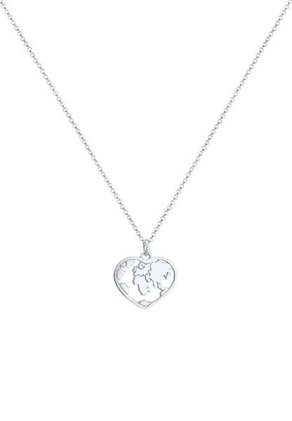 Ketten für Frauen - ELLI Halskette 'Weltkugel' silber  - Onlineshop ABOUT YOU