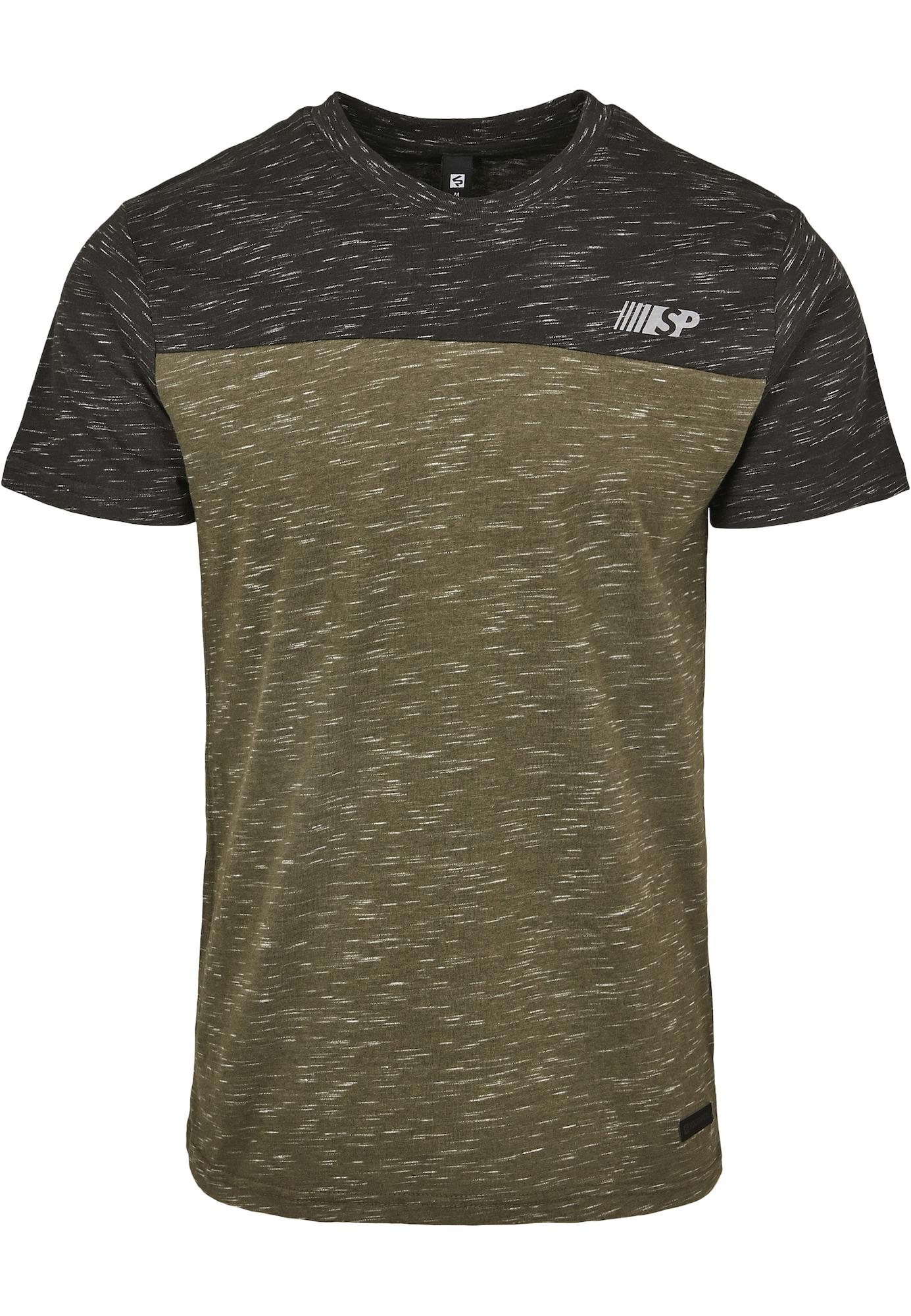 SOUTHPOLE Marškinėliai grafito / alyvuogių spalva