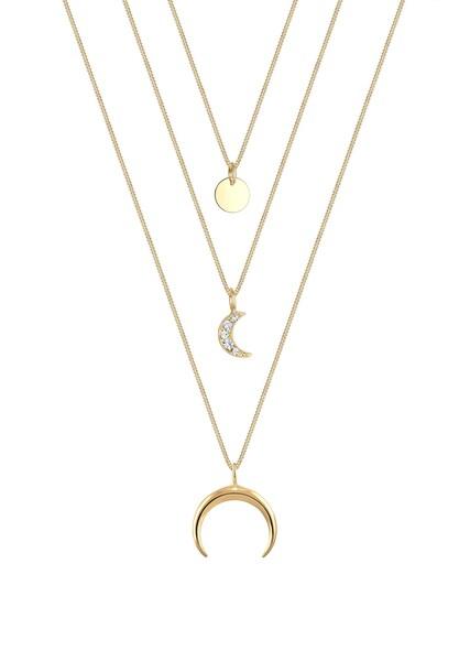 Ketten für Frauen - ELLI Halskette Astro, Halbmond, Kreis, Layer gold  - Onlineshop ABOUT YOU