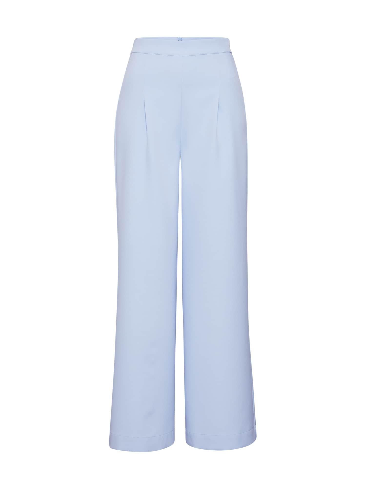 Kalhoty se sklady v pase Sanna světlemodrá EDITED