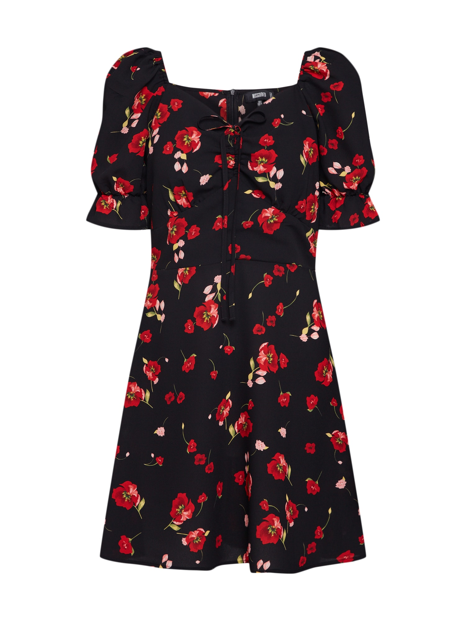 Šaty červená černá Missguided