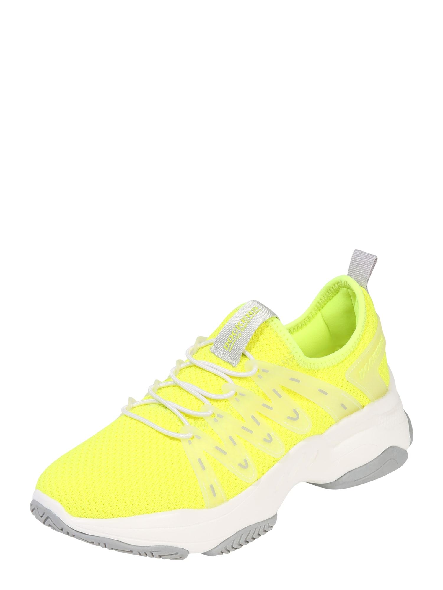Dockers by Gerli Sportbačiai balta / neoninė geltona