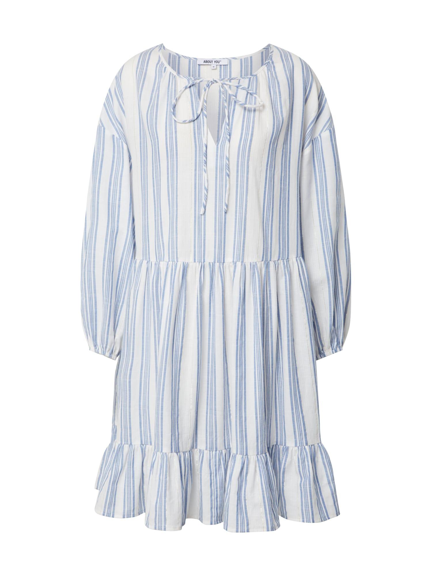 ABOUT YOU Palaidinės tipo suknelė balta / šviesiai mėlyna