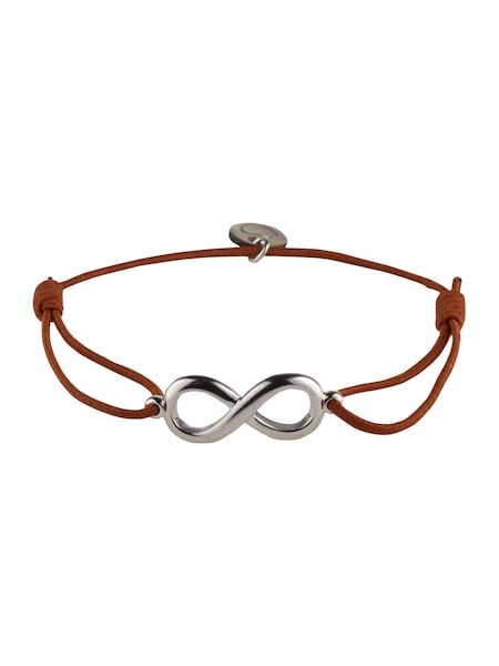 Armbaender für Frauen - Lua Accessories Armband 'Endless' cognac silber  - Onlineshop ABOUT YOU