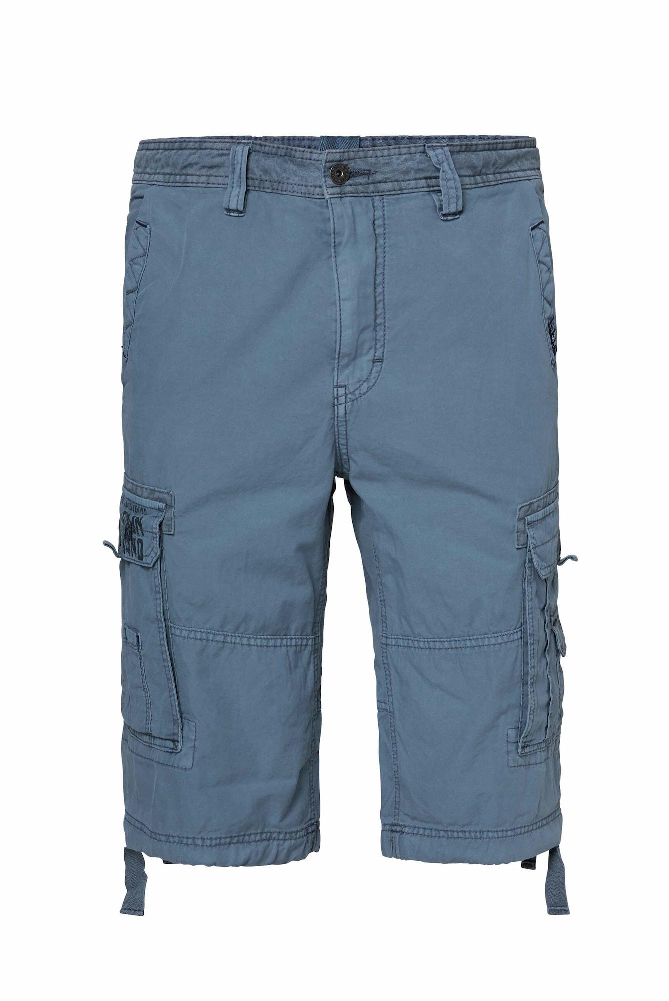 CAMP DAVID Laisvo stiliaus kelnės mėlyna