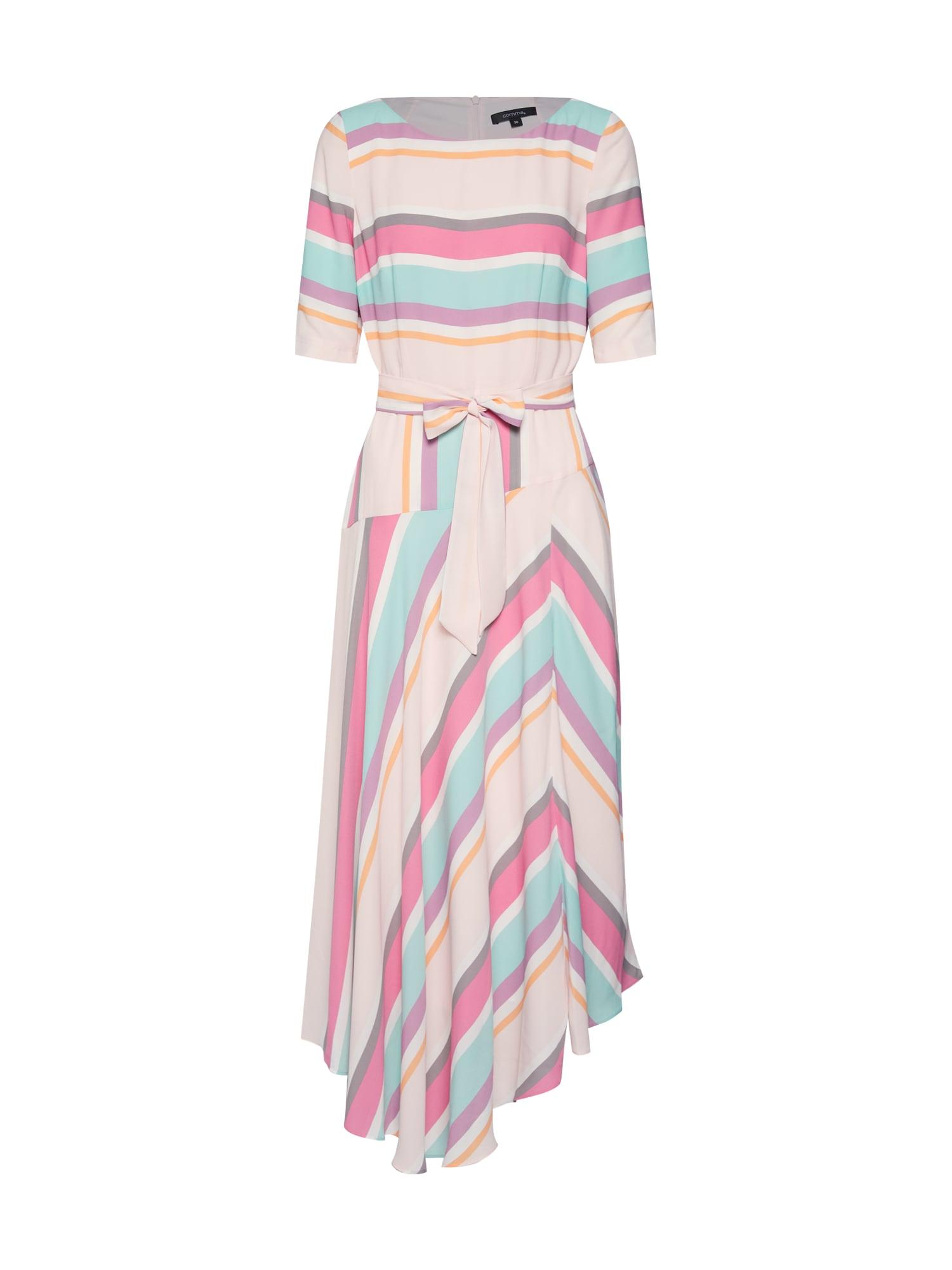 Šaty mix barev starorůžová COMMA