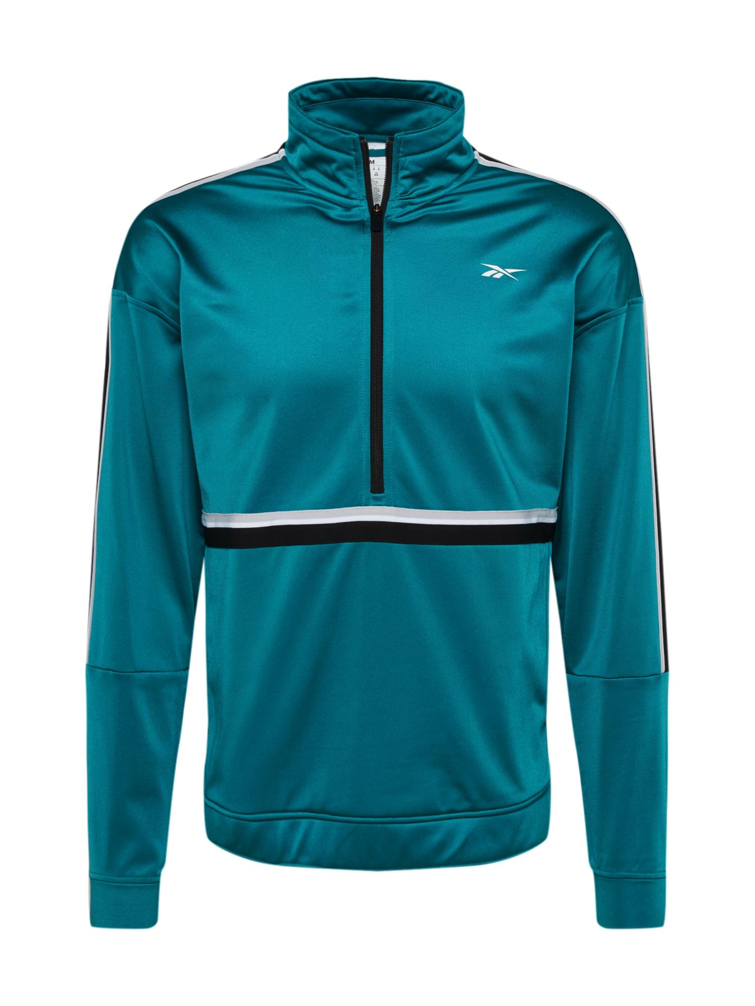 REEBOK Sportovní bunda  pastelová modrá / černá / bílá