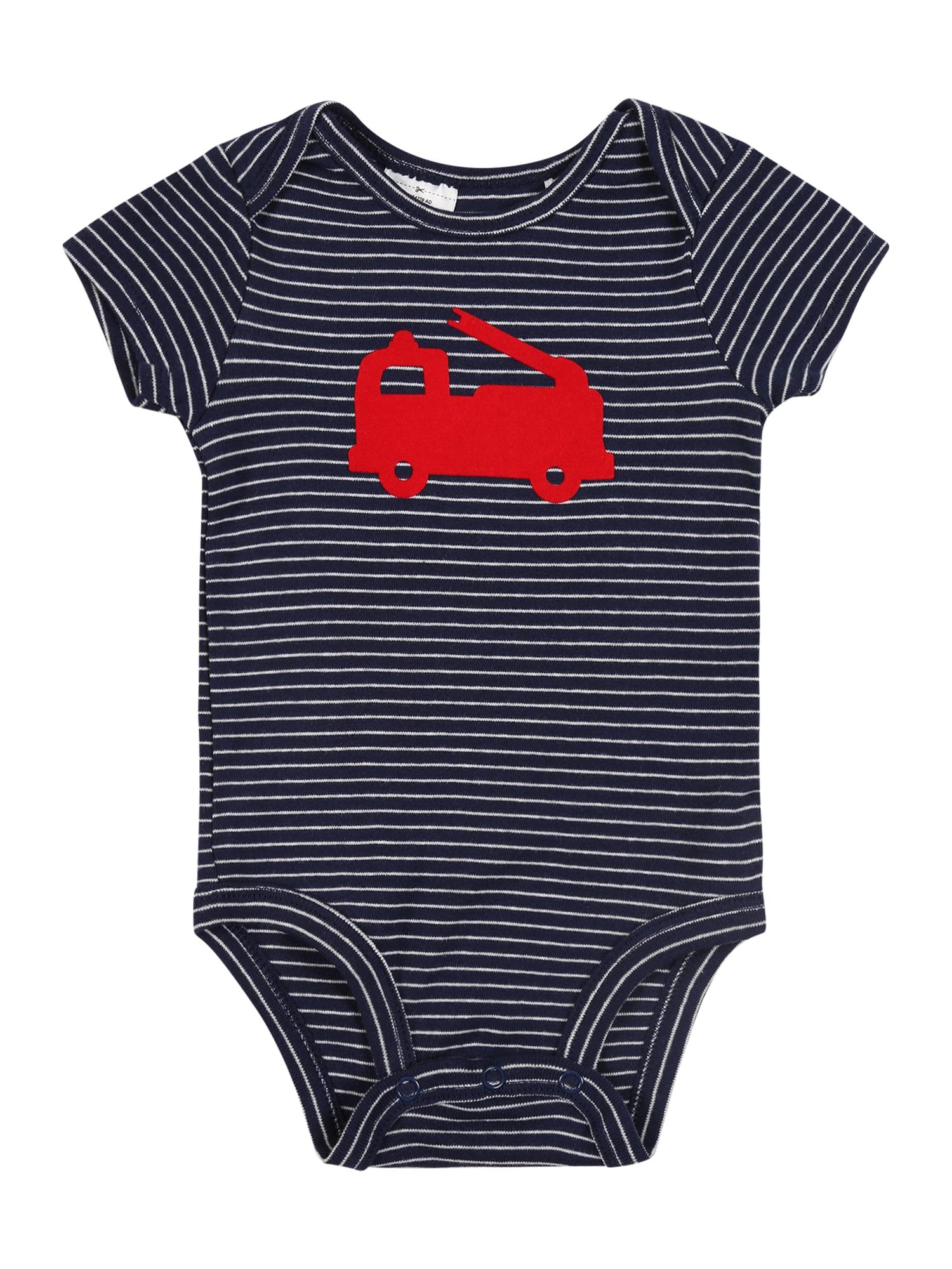 Carter's Šliaužtinukas / glaustinukė 'Bodysuit S20 B BS Firetruck' tamsiai mėlyna / raudona