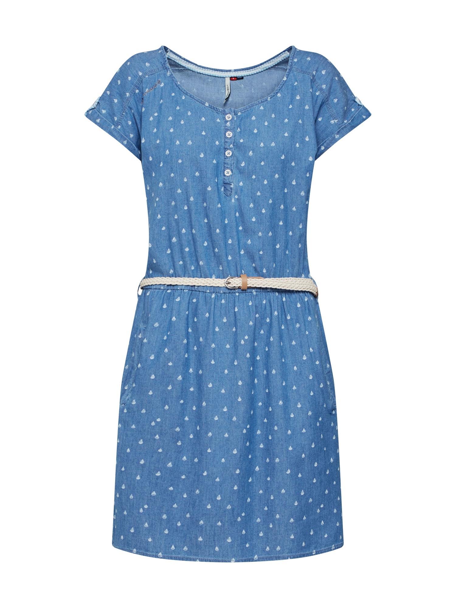 Letní šaty Geena modrá džínovina bílá Ragwear