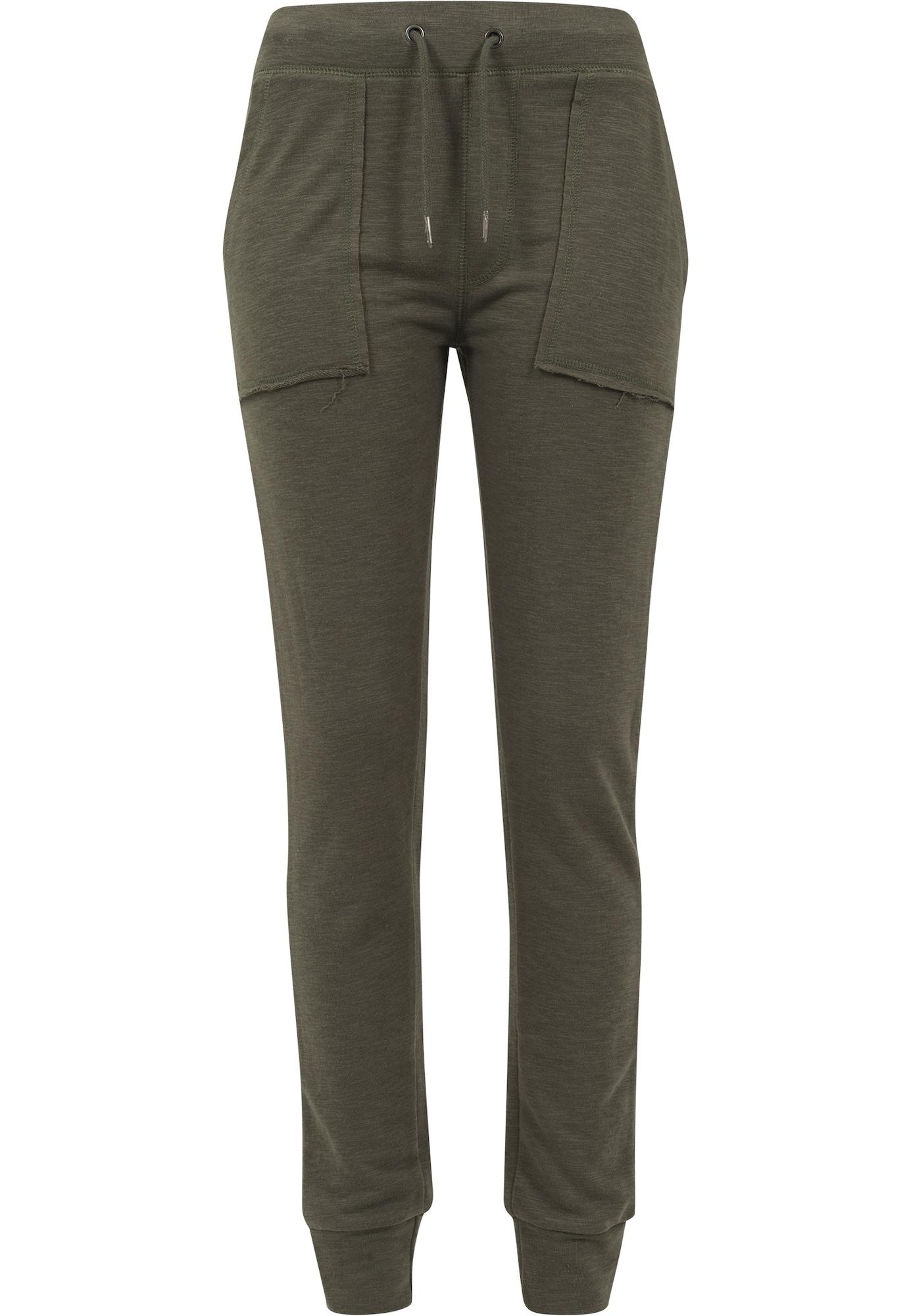 Urban Classics Kelnės 'Terry' alyvuogių spalva