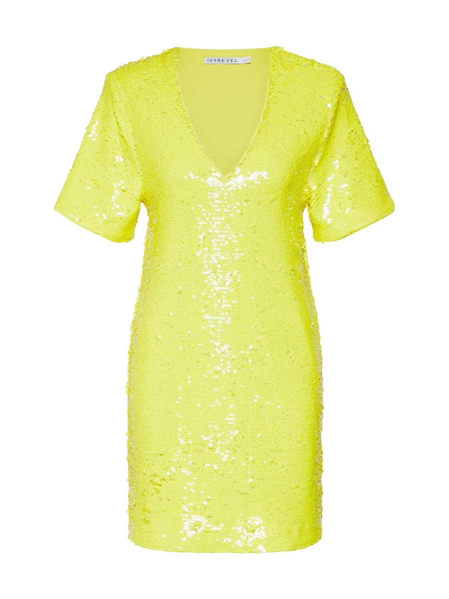 Šaty SEQUIN DRESS žlutá IVYREVEL