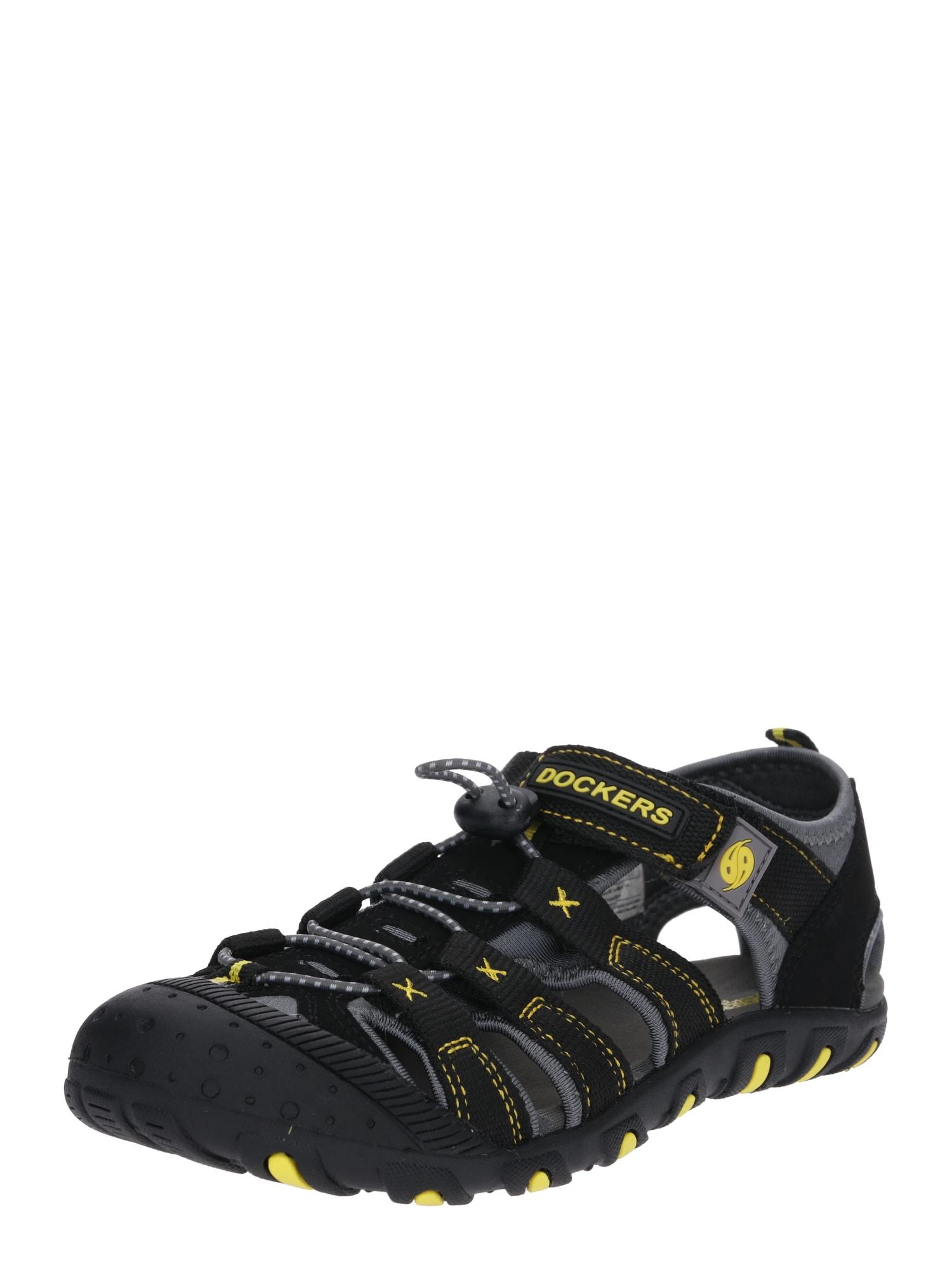 Otevřená obuv 40TW650 šedá černá Dockers By Gerli