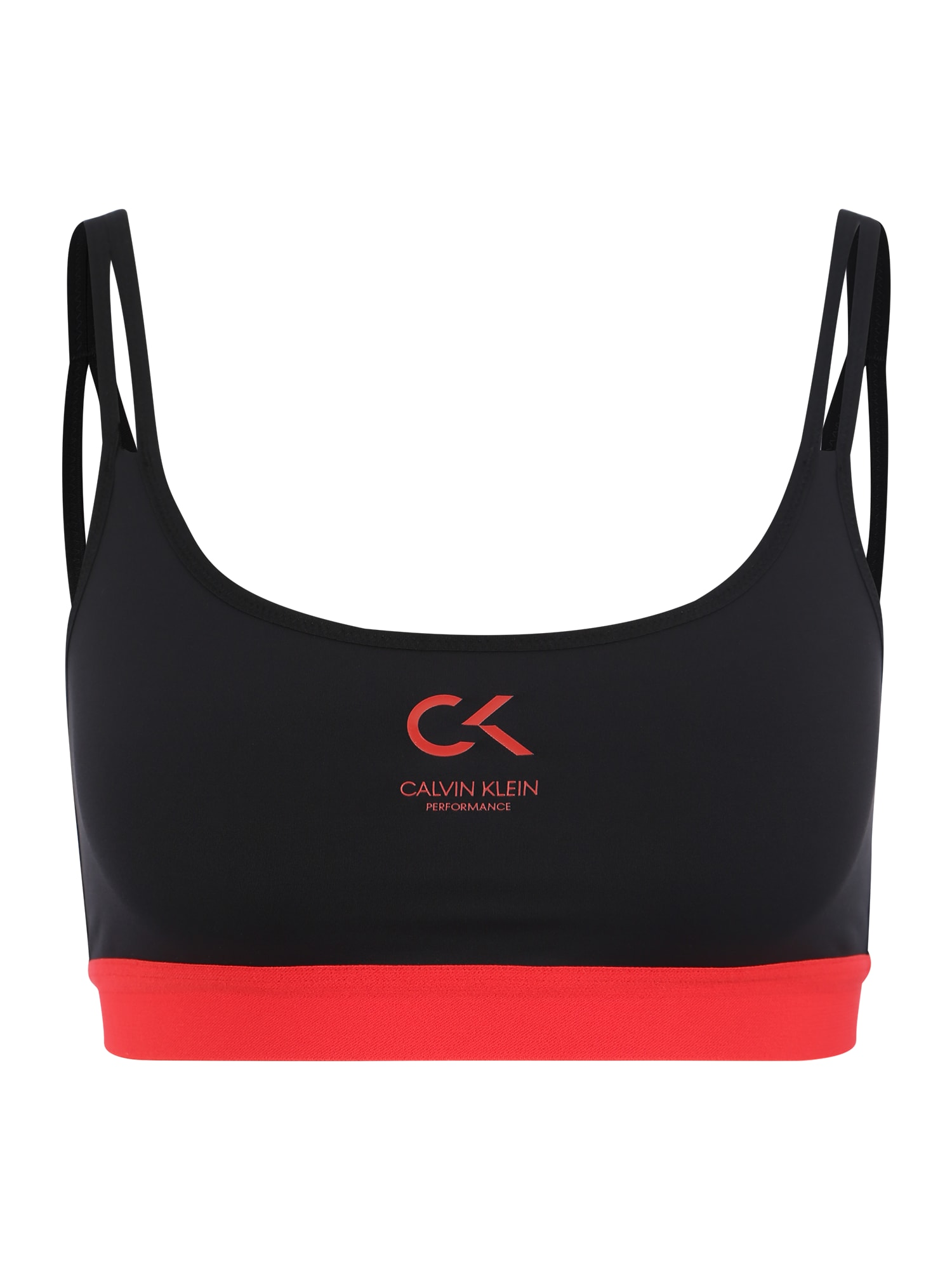 Sportovní podprsenka červená černá Calvin Klein Performance