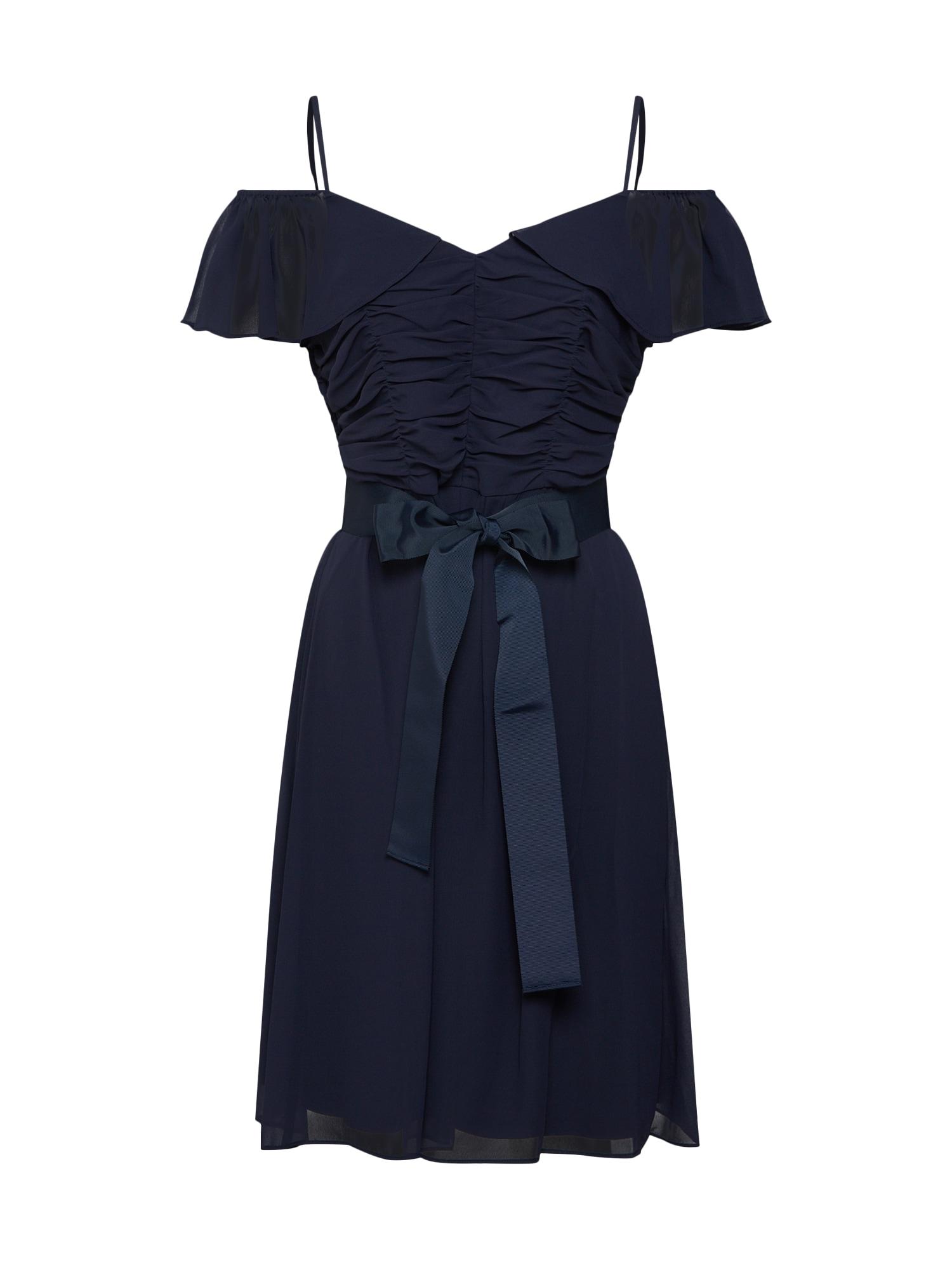Koktejlové šaty kobaltová modř S.Oliver BLACK LABEL