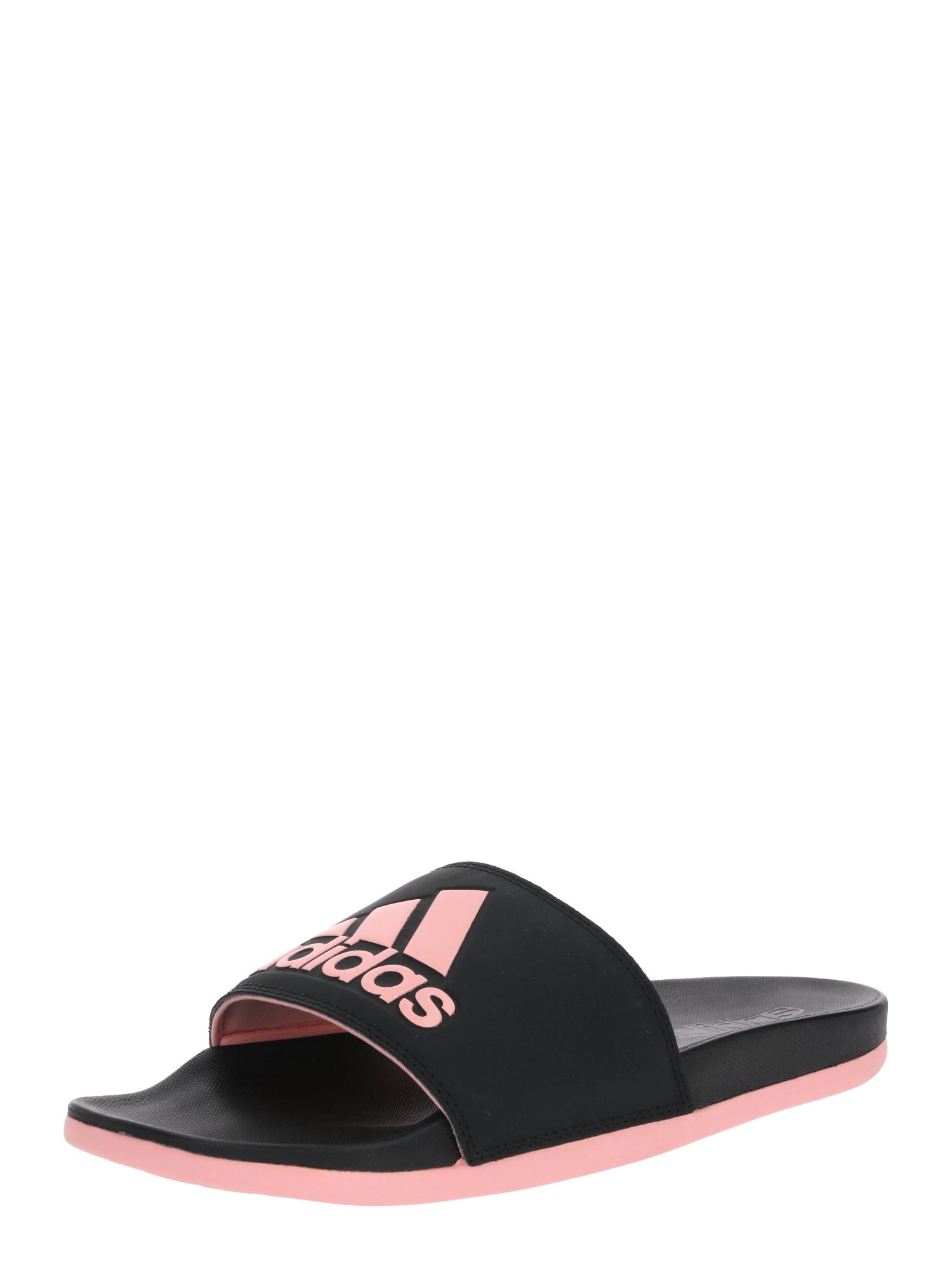 ADIDAS PERFORMANCE Sandalai / maudymosi batai juoda / šviesiai rožinė