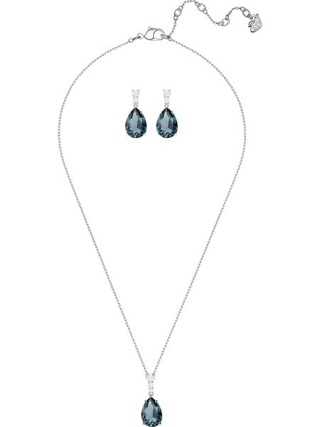 Schmucksets für Frauen - Swarovski Set 'Vintage, 5421820' taubenblau silber  - Onlineshop ABOUT YOU
