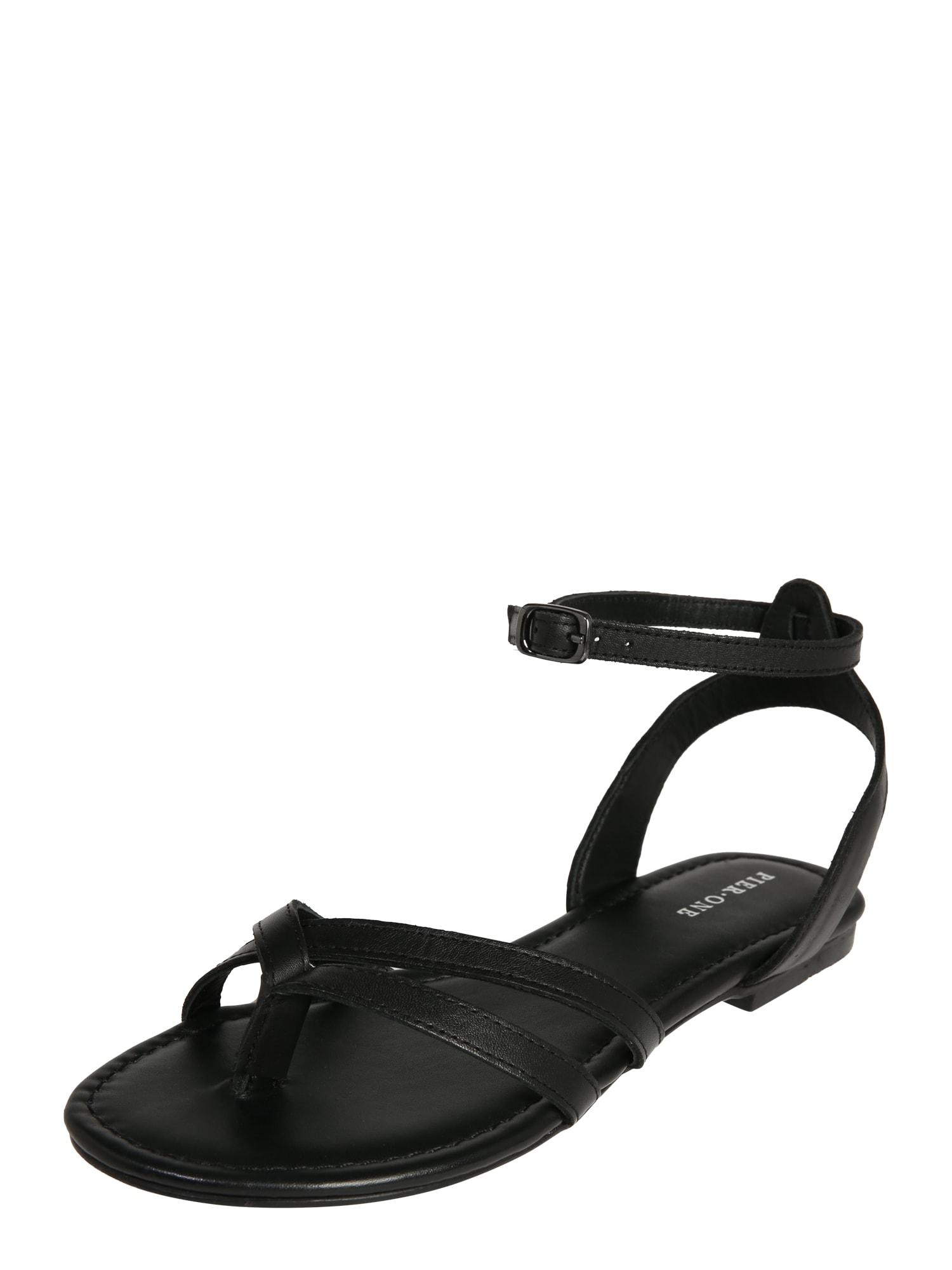 Sandály hirby-ry černá Pier One